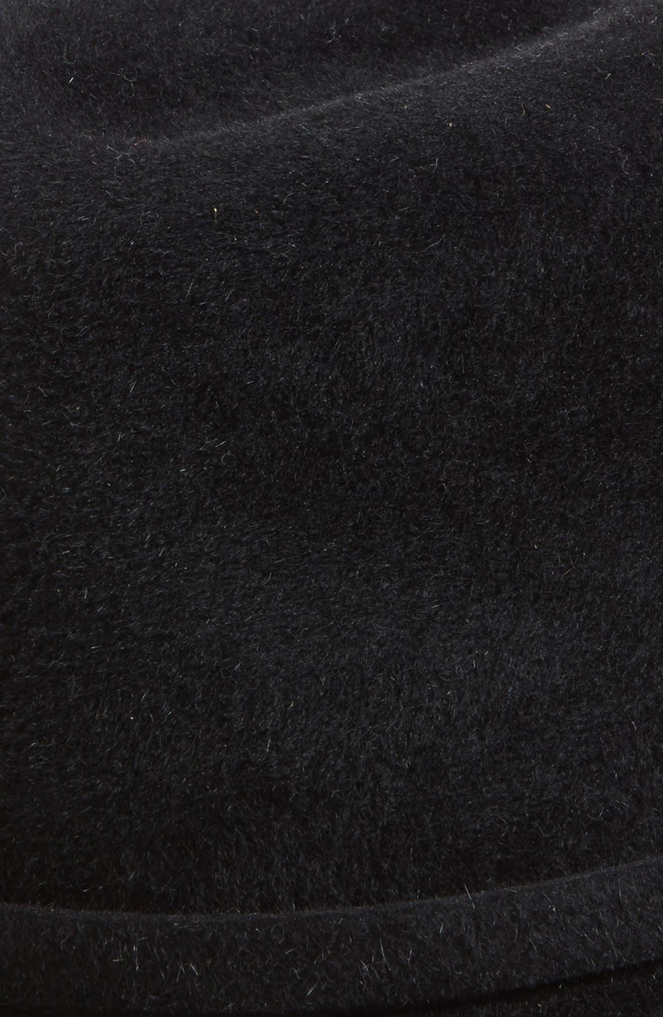 Packable Fur Felt Fedora,                             Alternate thumbnail 2, color,                             001