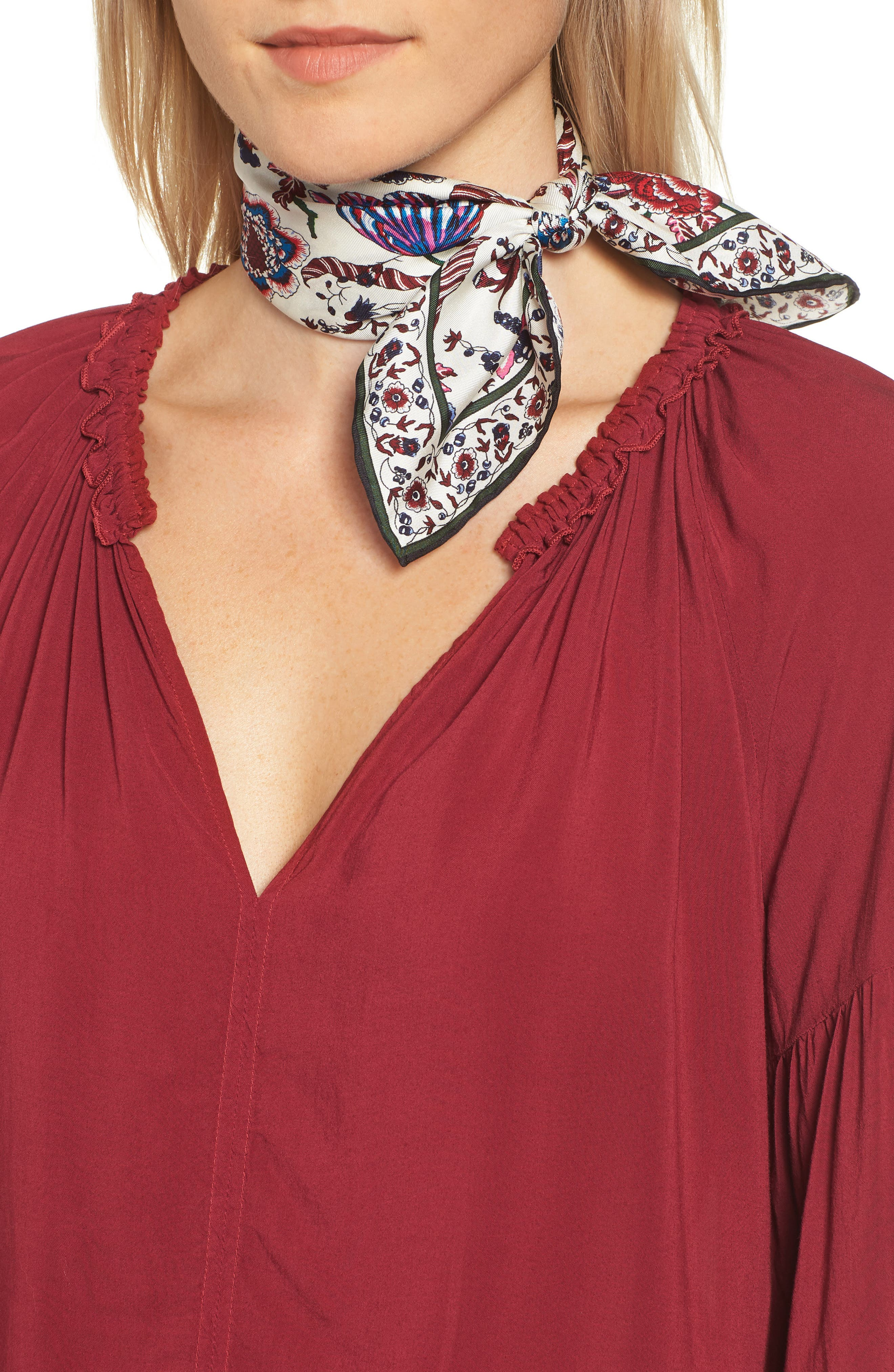 Happy Times Silk Neckerchief,                         Main,                         color, MULTI HAPPY TIMES