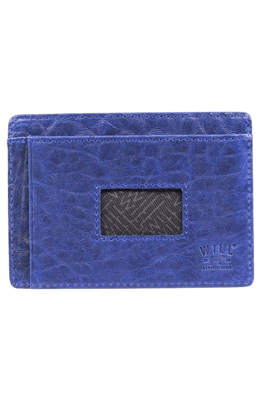 'Quip' Leather Card Case,                             Alternate thumbnail 4, color,                             012