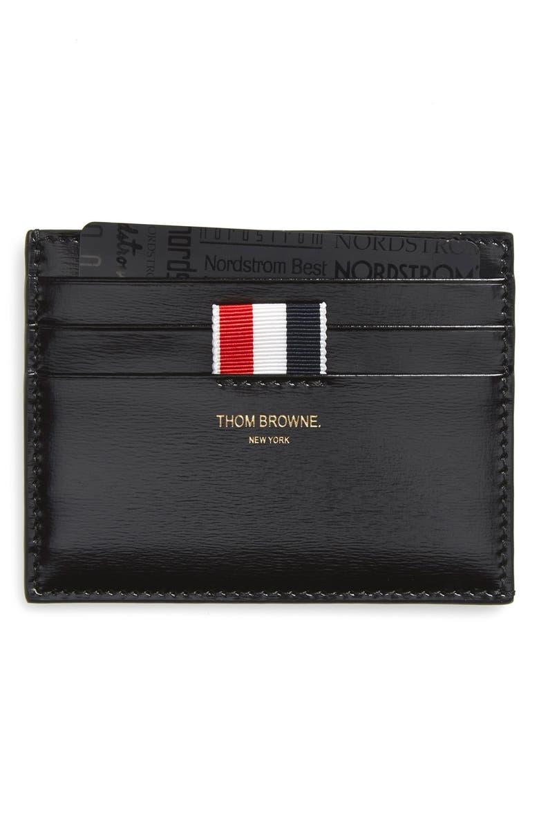 leather card holder - Thom Browne Card Holder