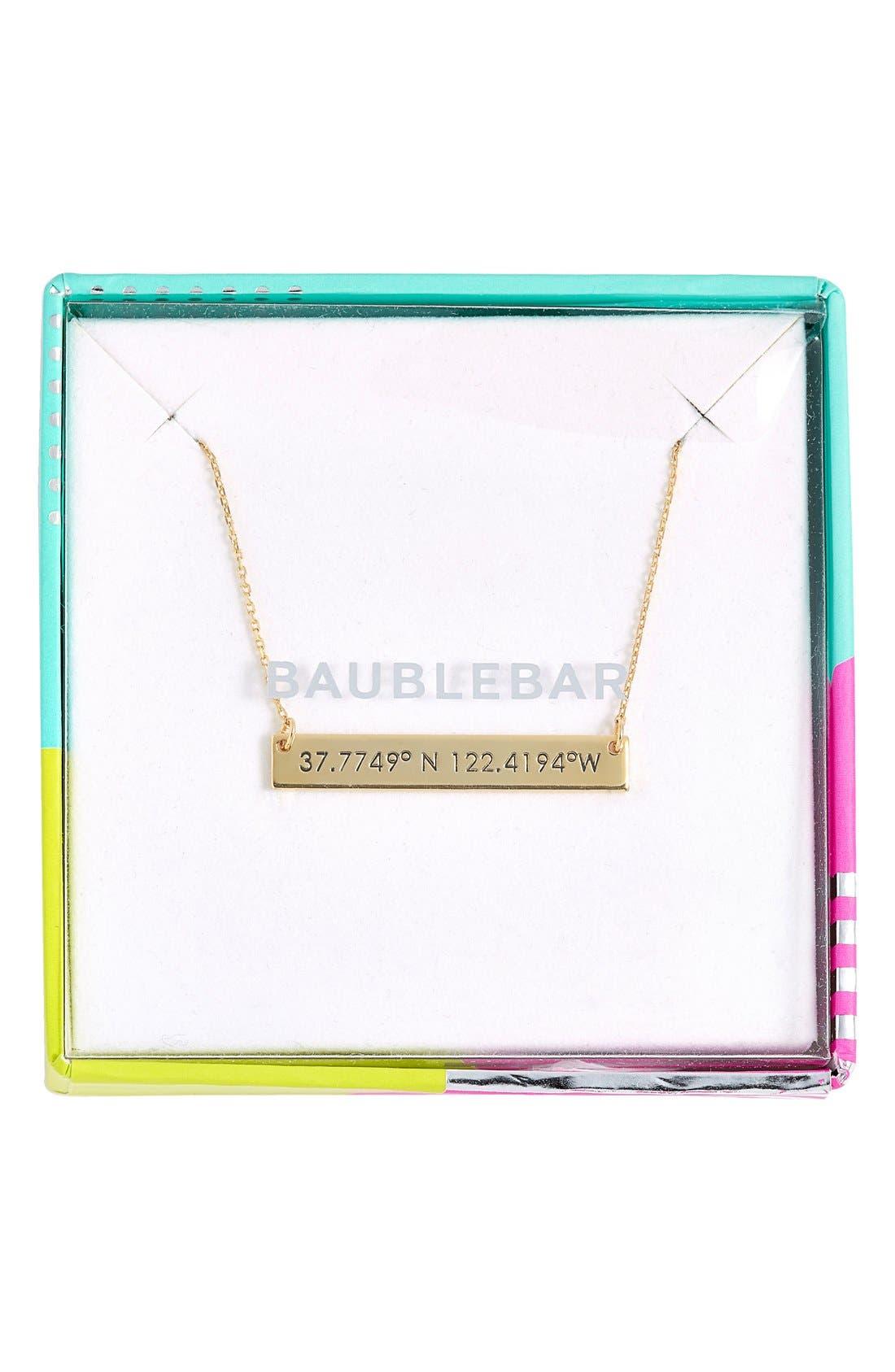 Coordinate Bar Pendant Necklace,                             Alternate thumbnail 23, color,