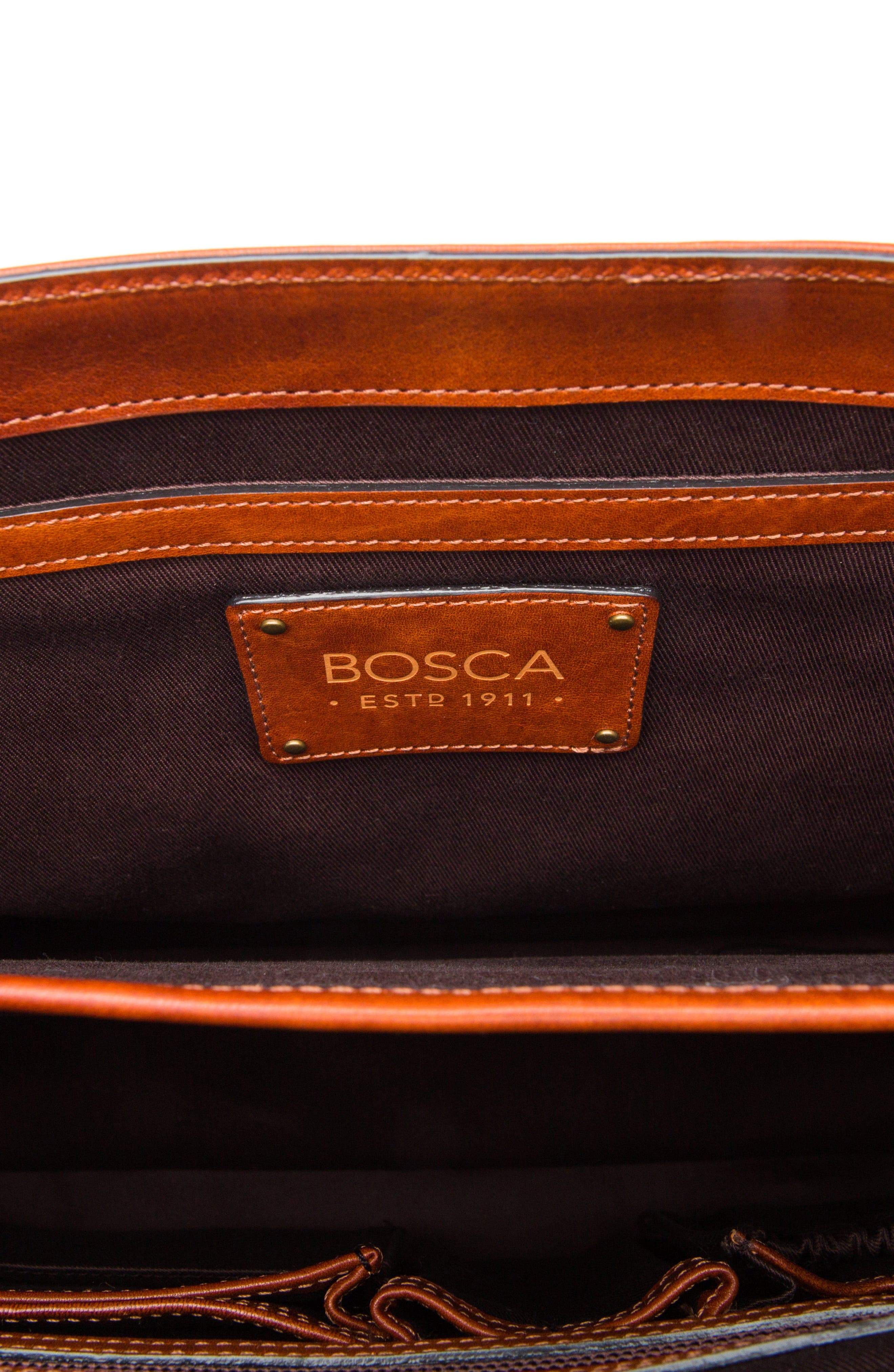 Dolce Leather Briefcase,                             Alternate thumbnail 6, color,                             AMBER