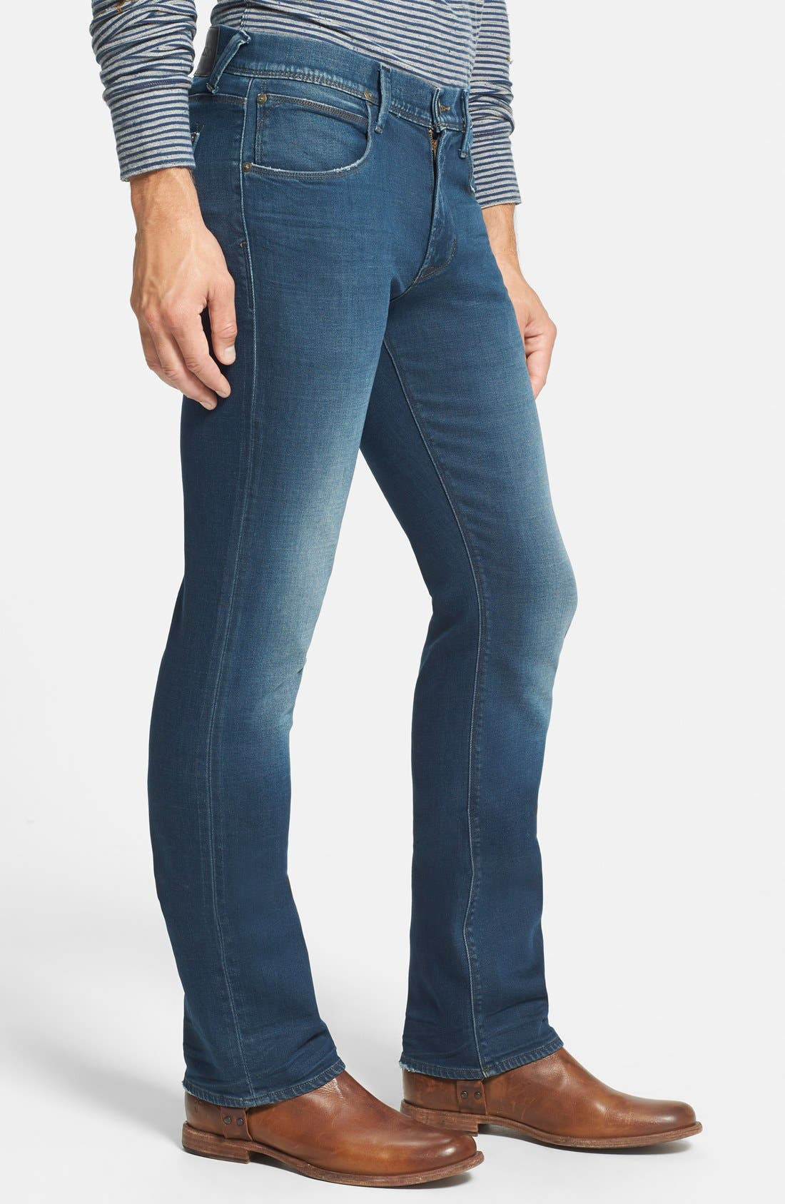 HUDSON JEANS,                             'Clifton' Bootcut Jeans,                             Alternate thumbnail 4, color,                             403