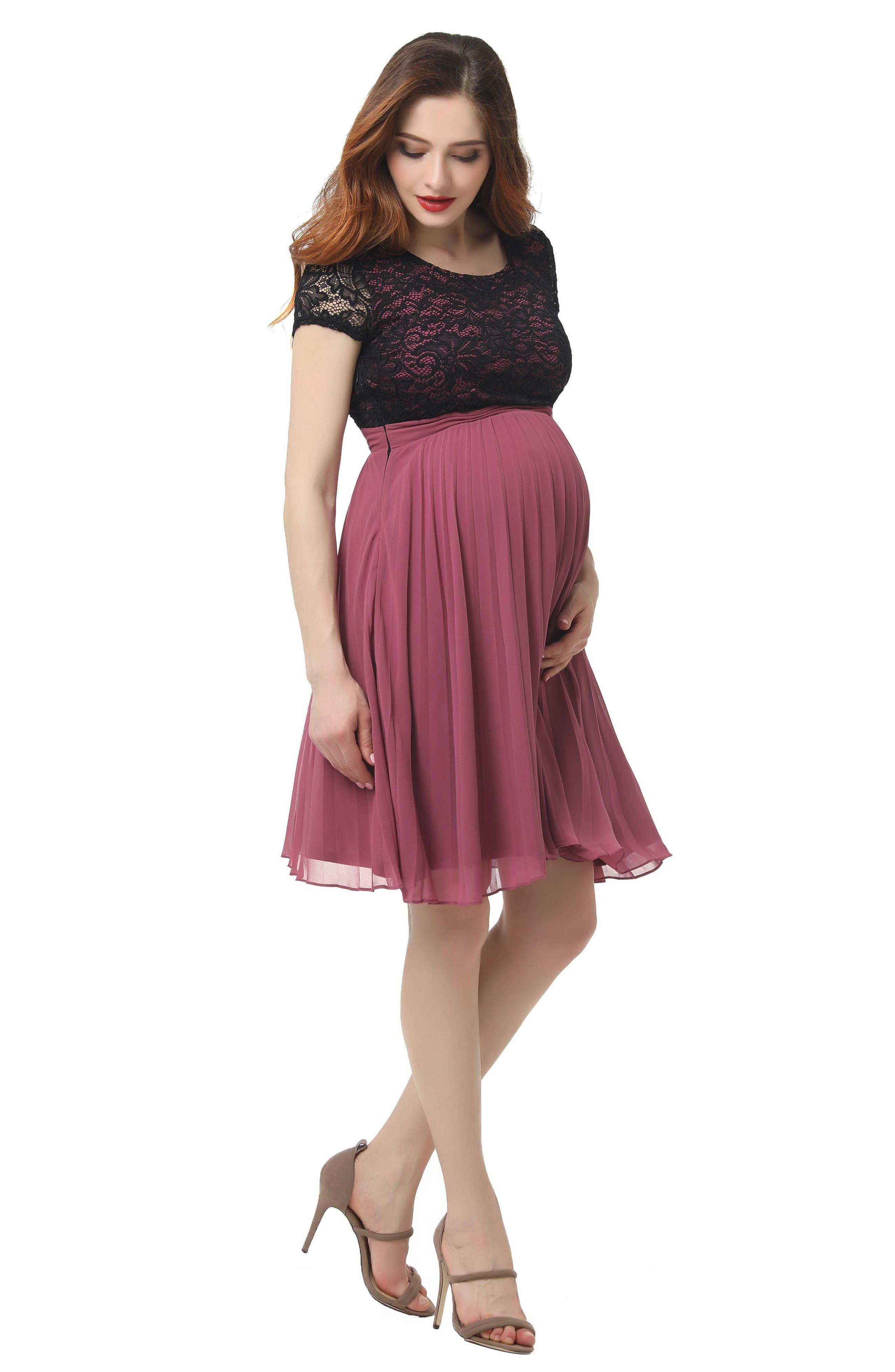 Tanya Maternity Babydoll Dress,                             Alternate thumbnail 4, color,                             ROSE