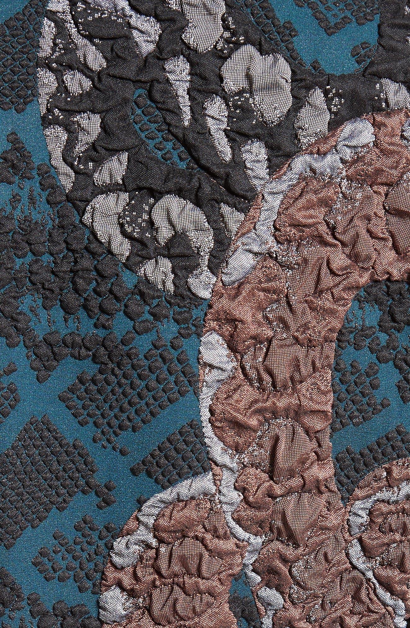 Serpent Jacquard Dress,                             Alternate thumbnail 5, color,                             400