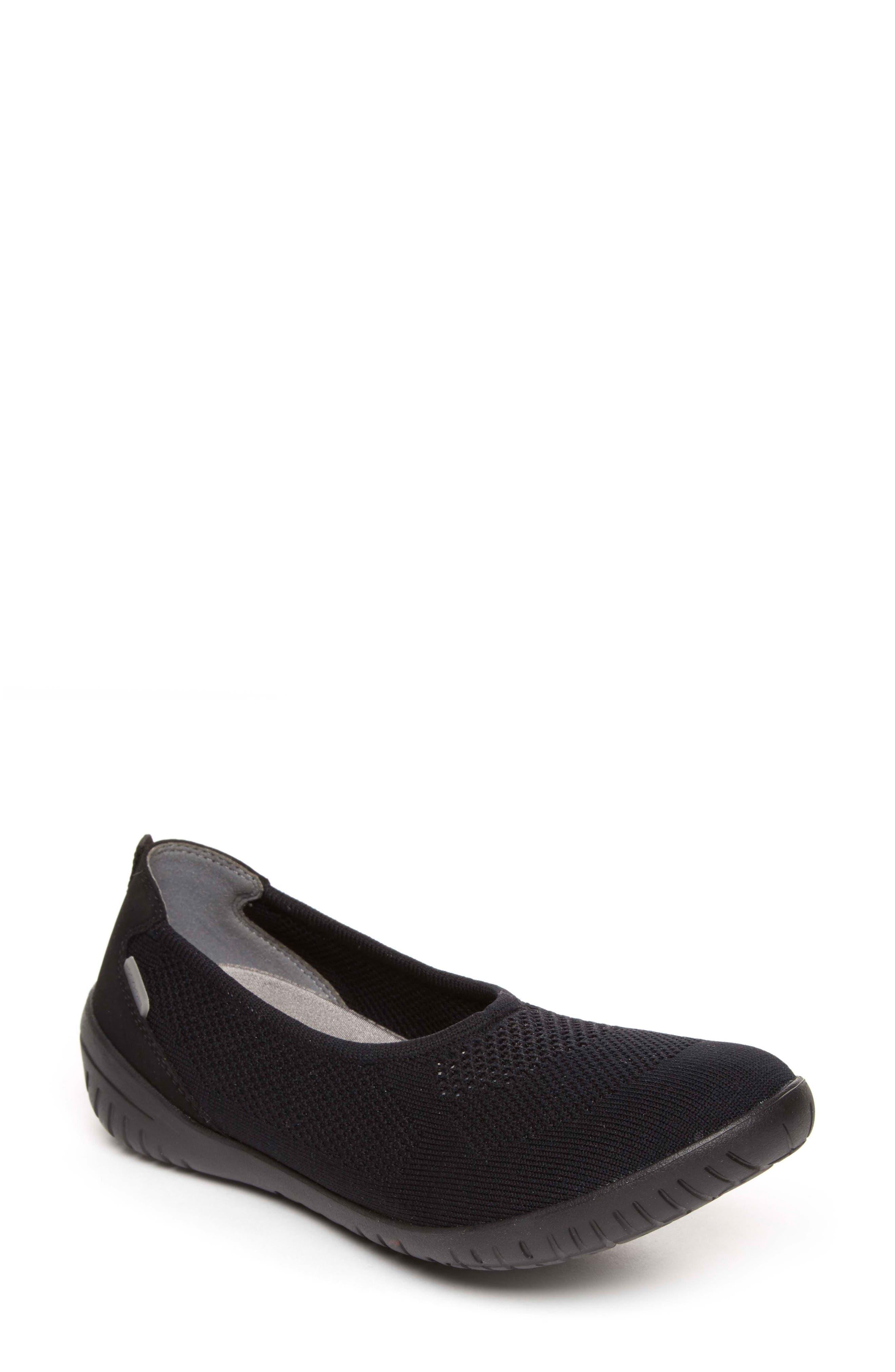 Raelyn Knit Ballet Sneaker,                             Main thumbnail 1, color,                             BLACK FABRIC