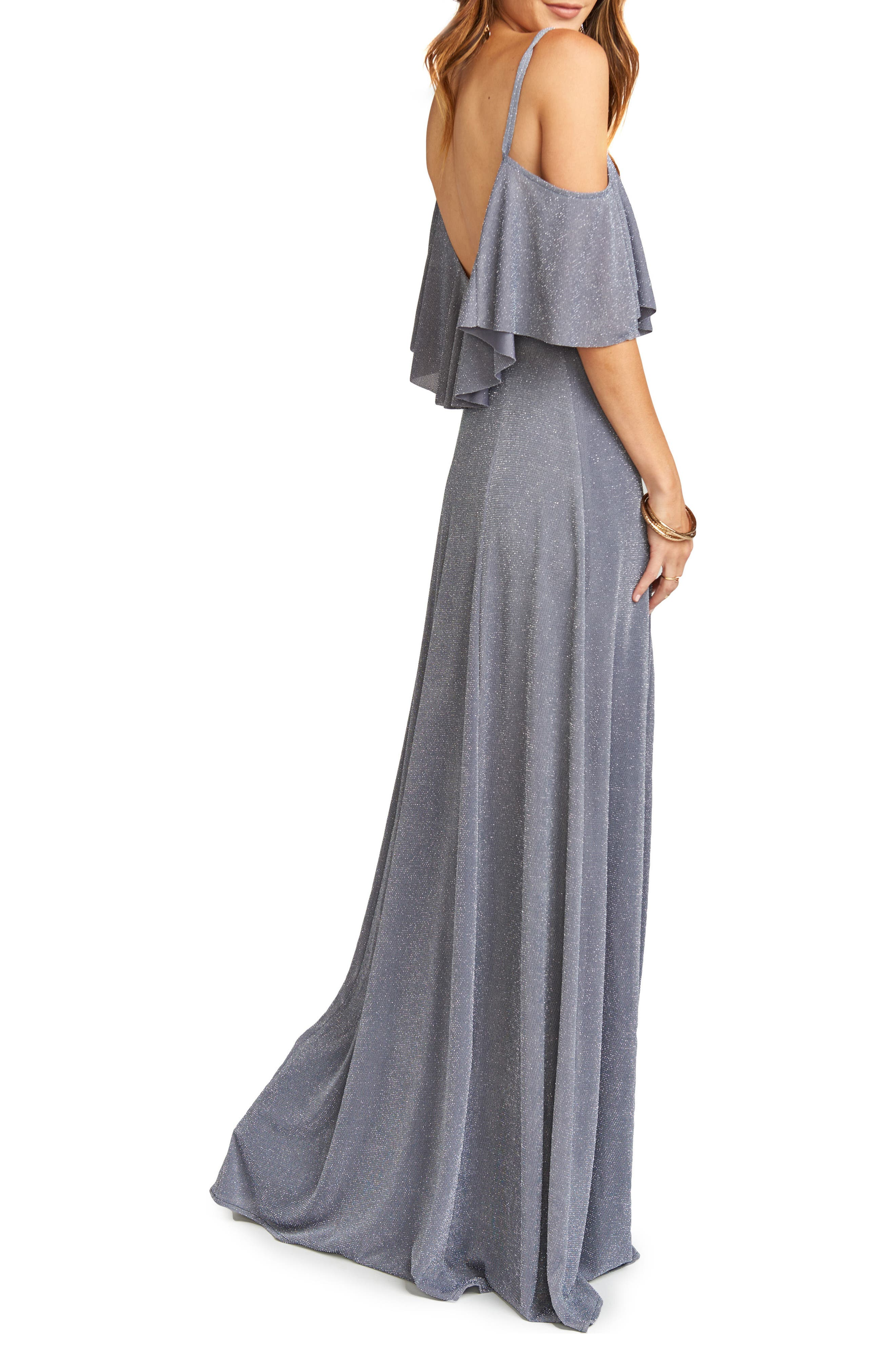 Renee Ruffle Gown,                             Alternate thumbnail 2, color,                             030