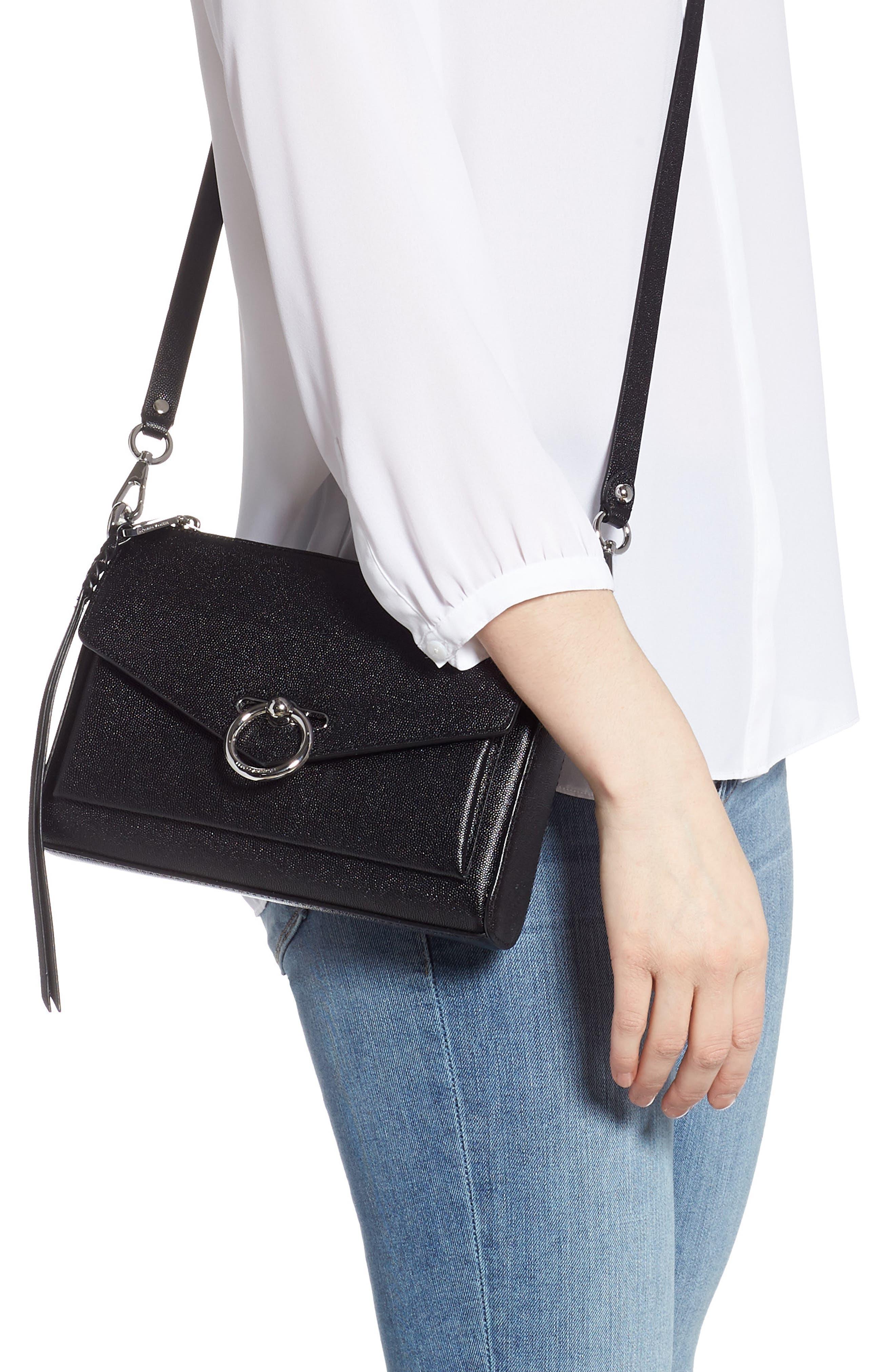 Jean MAC Convertible Crossbody Bag,                             Alternate thumbnail 2, color,                             BLACK