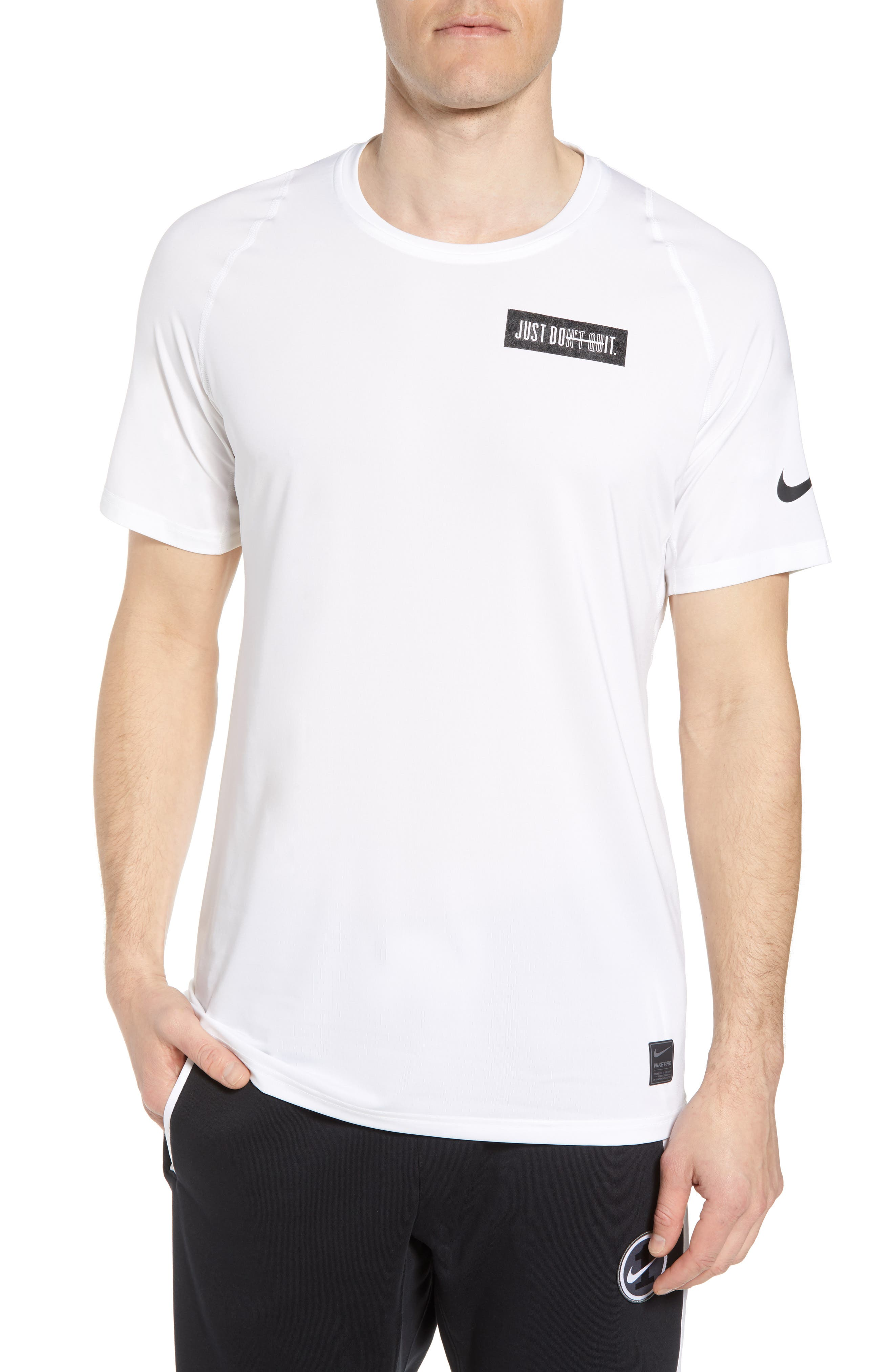 Nike Pro Jdi Logo Dry T-Shirt, White
