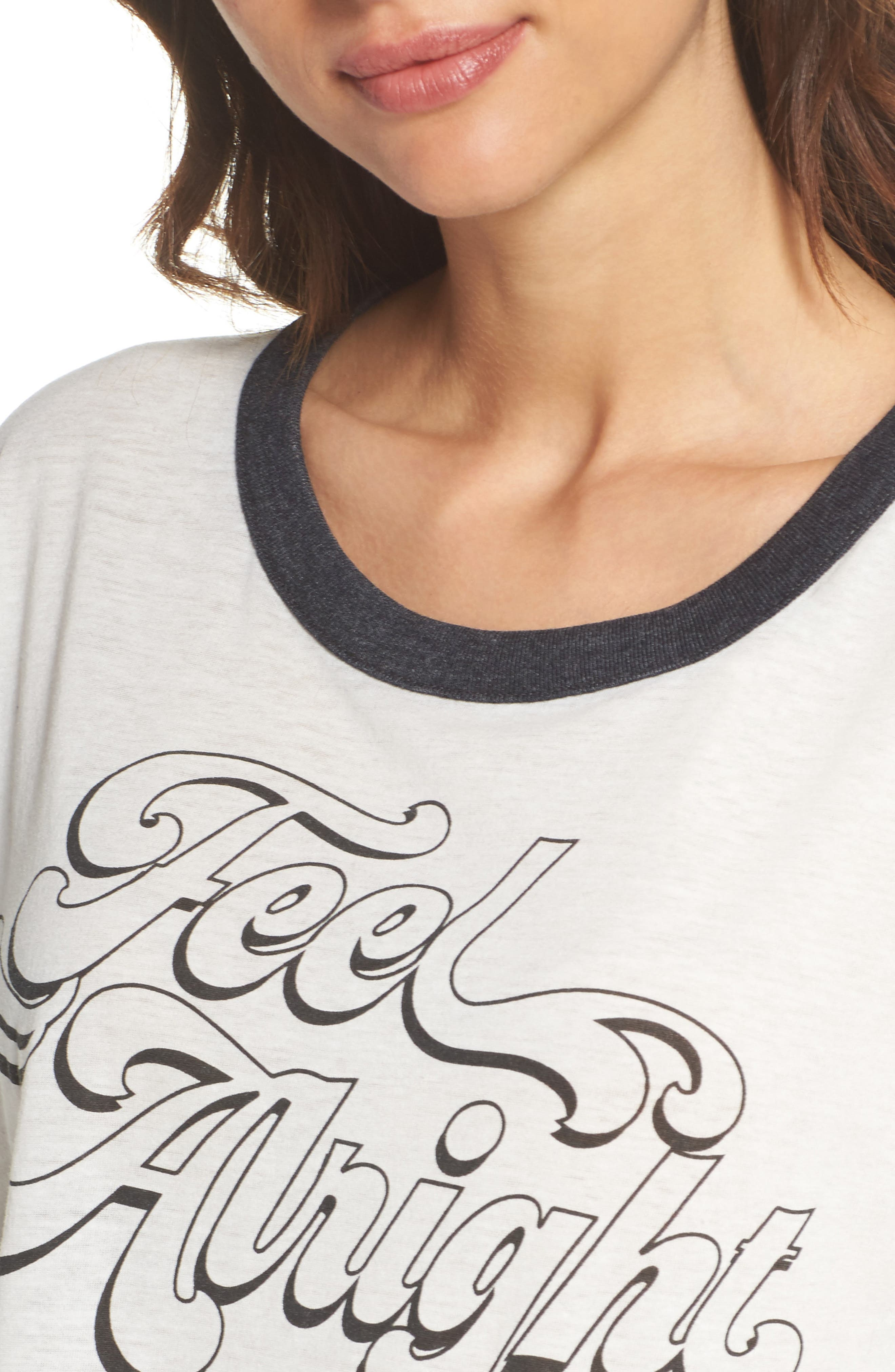 Feel Alright Ringer Tee,                             Alternate thumbnail 4, color,
