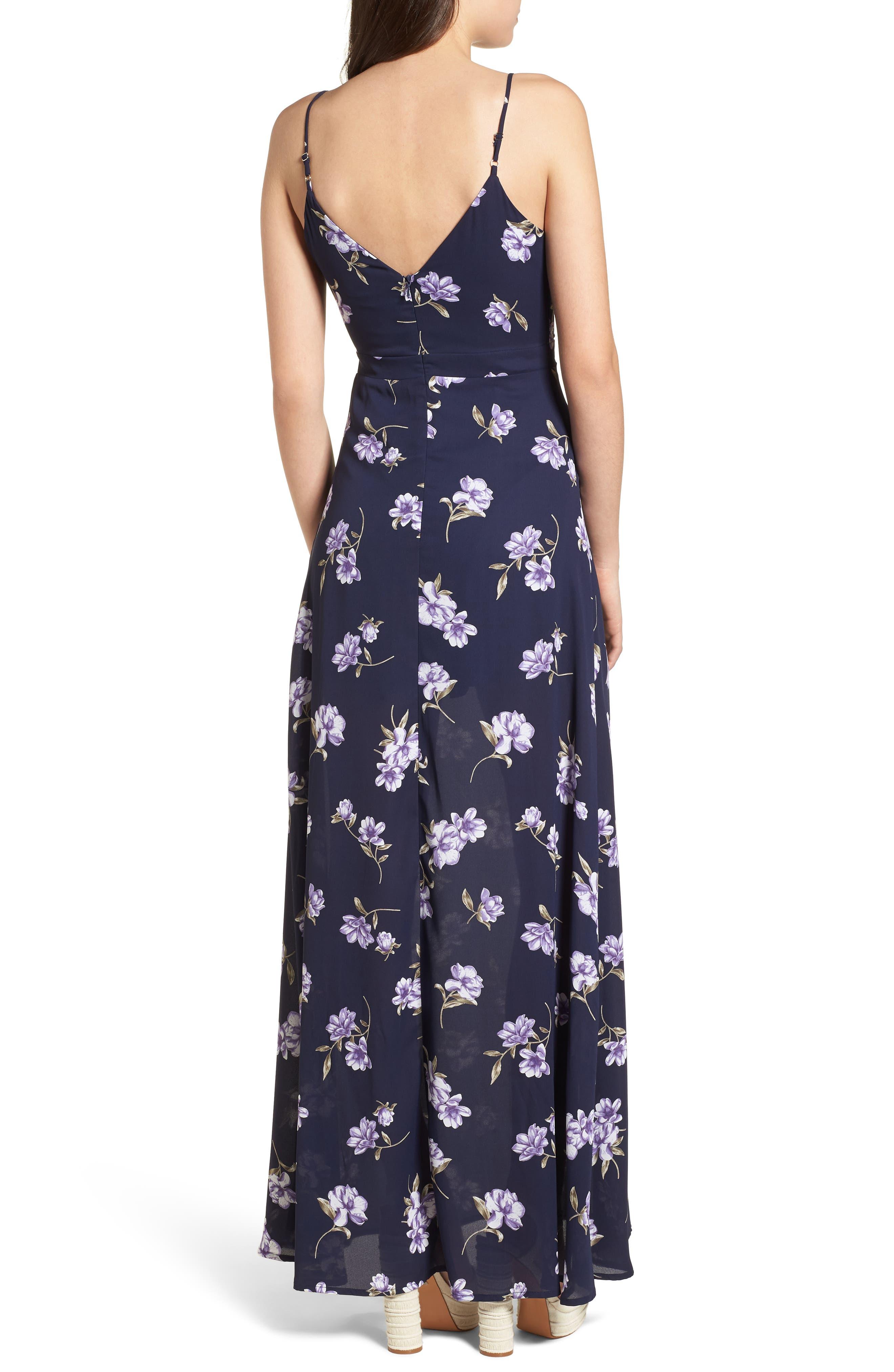 Tie Front Maxi Dress,                             Alternate thumbnail 2, color,                             400