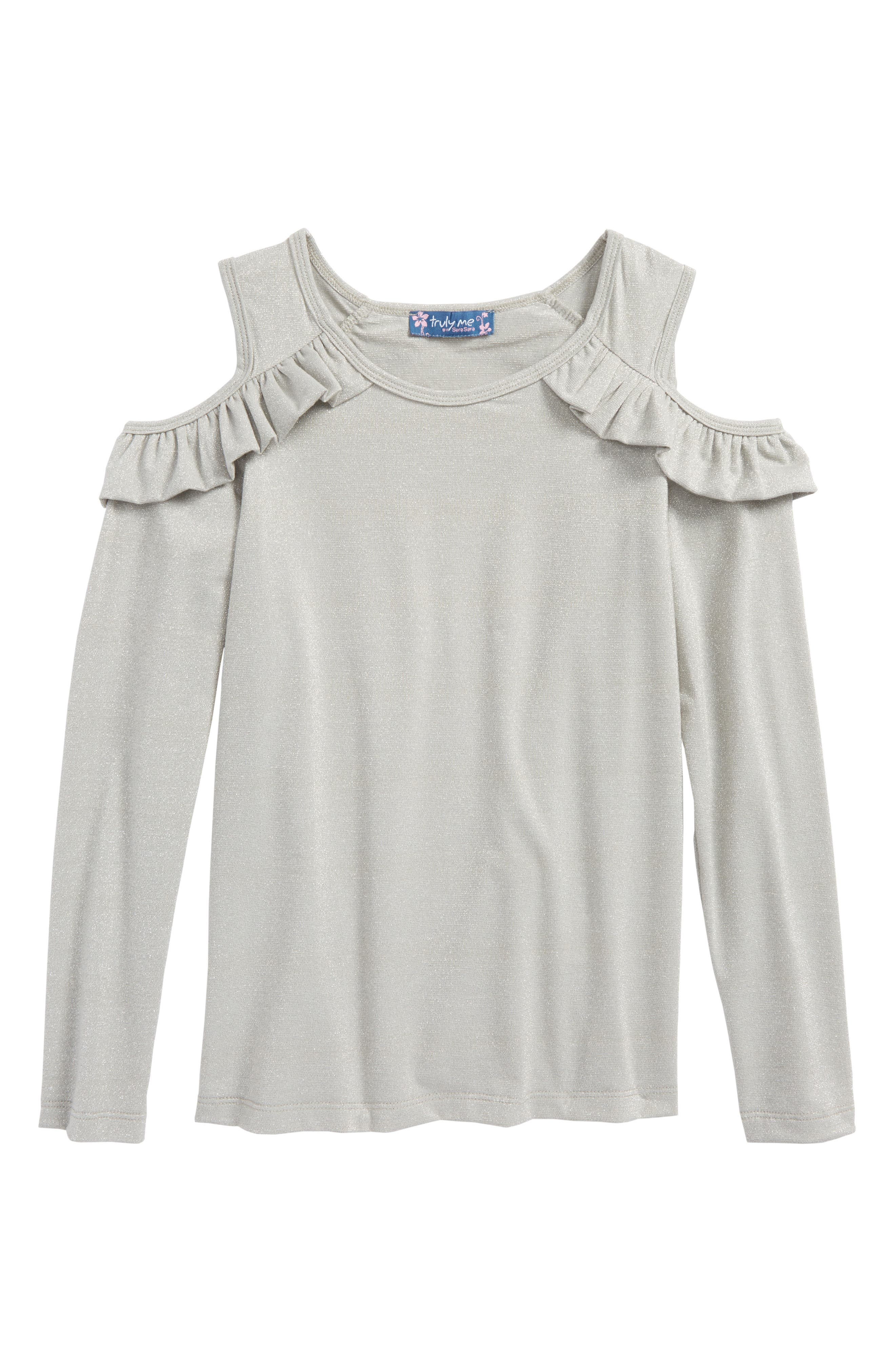 TRULY ME,                             Cold Shoulder Top,                             Main thumbnail 1, color,                             040