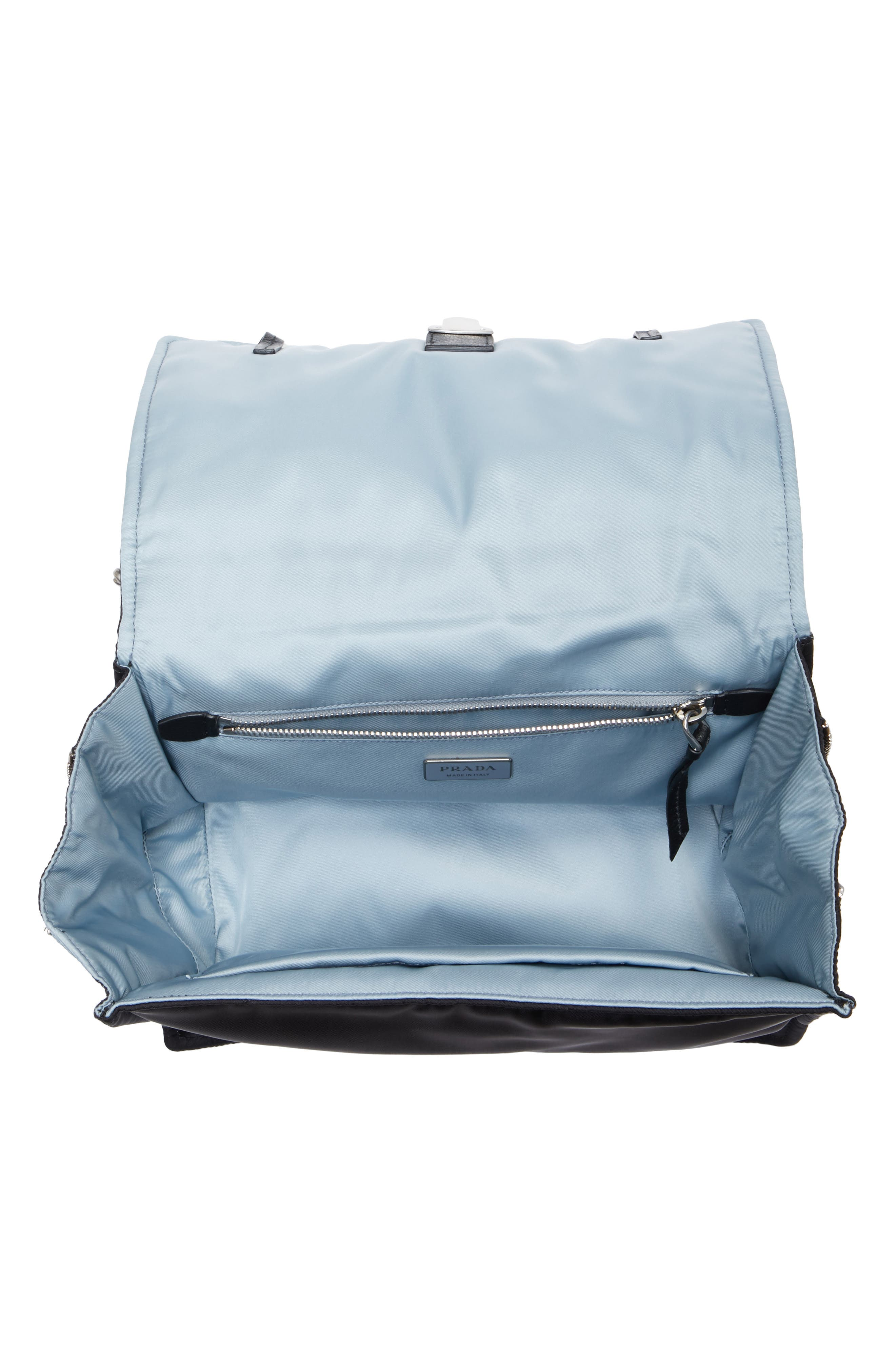 Medium Etiquette Tessuto Bag,                             Alternate thumbnail 4, color,                             001