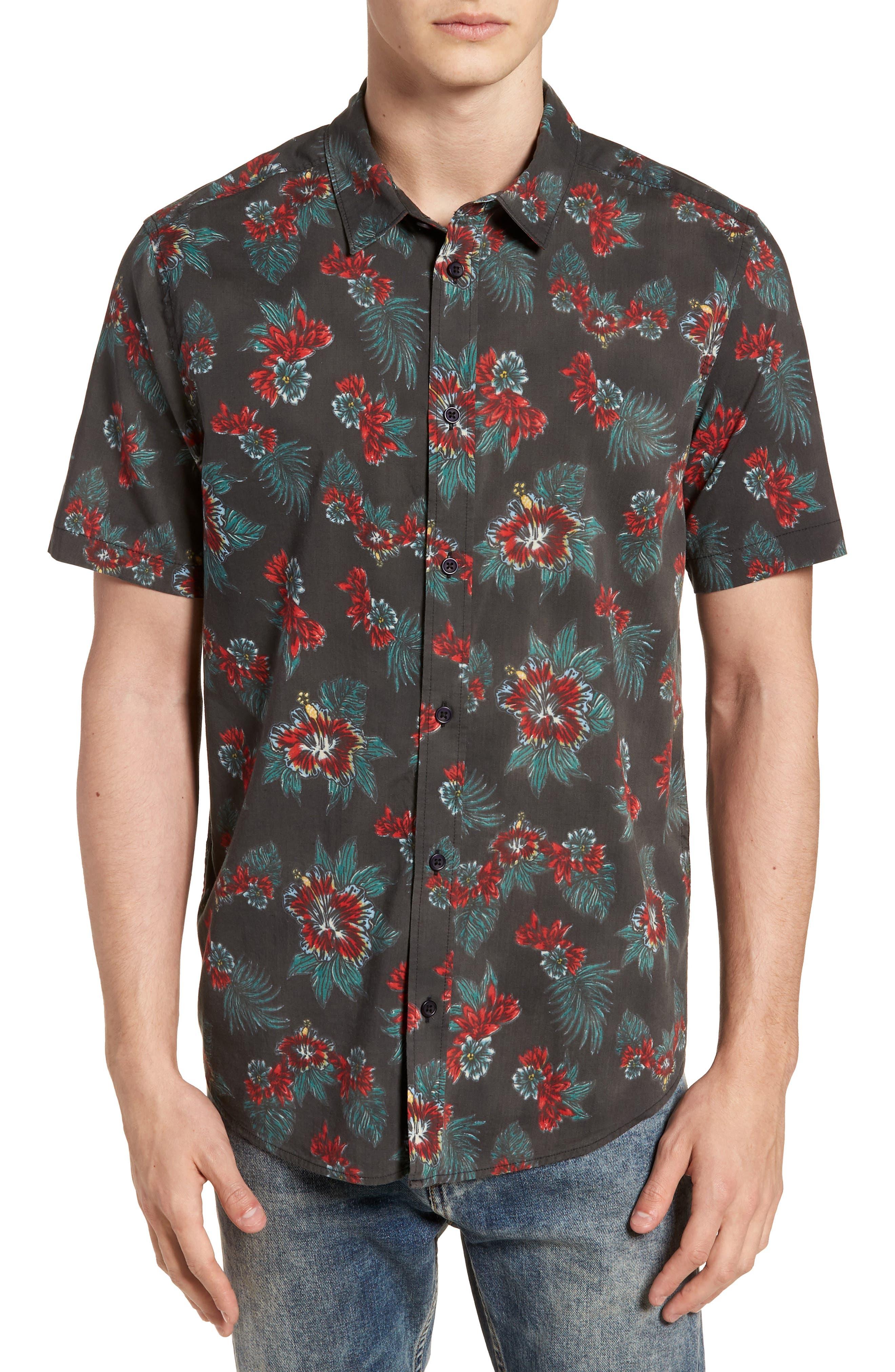 McMillan Floral Woven Shirt,                             Main thumbnail 1, color,                             001