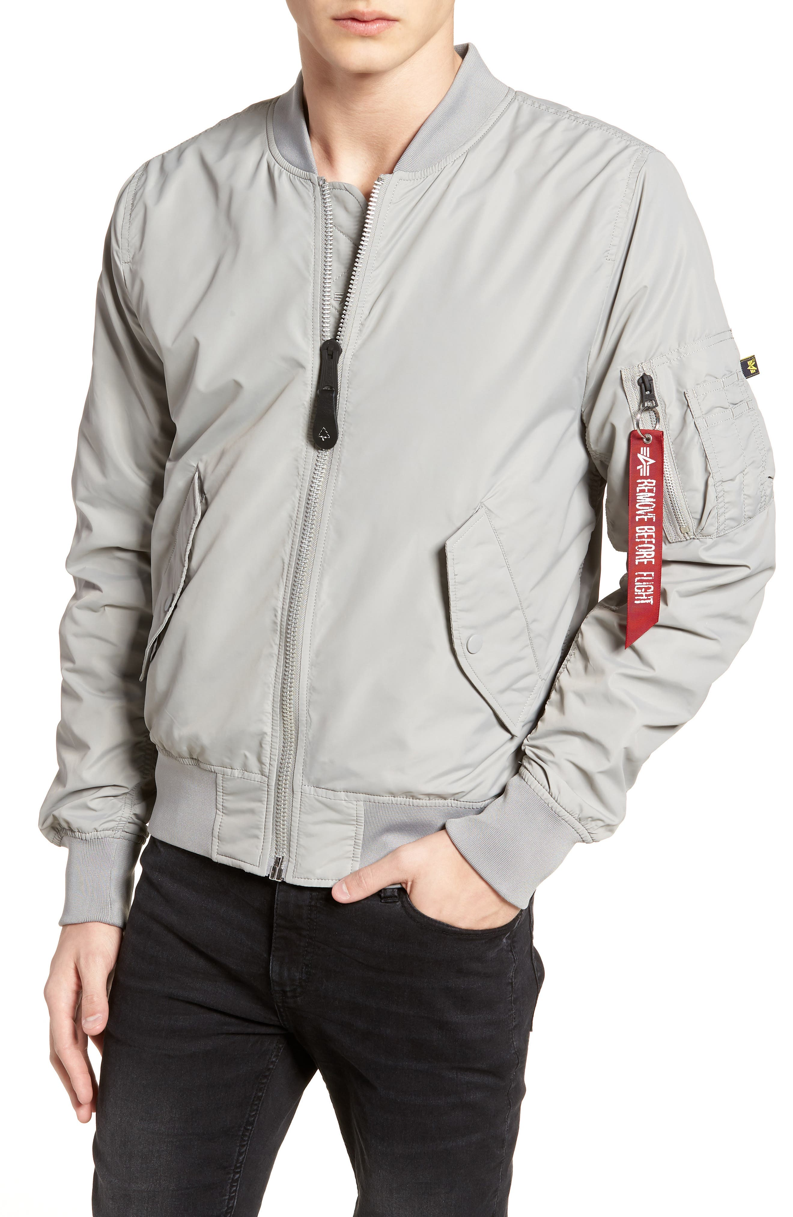 ALPHA INDUSTRIES,                             'L-2B - Dragonfly' Water Resistant Reversible Flight Jacket,                             Alternate thumbnail 4, color,                             020