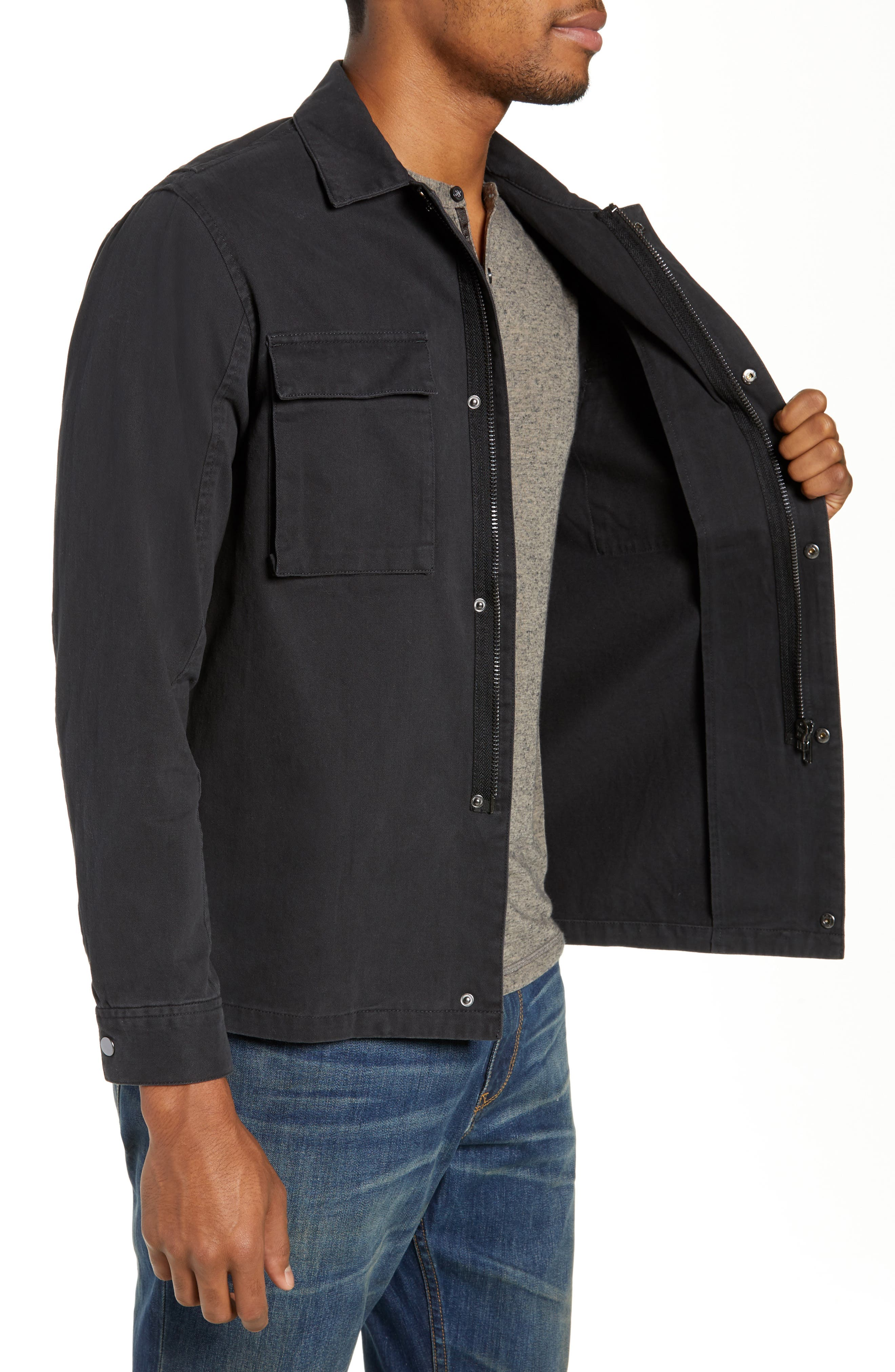 Wendall Regular Fit Jacket,                             Alternate thumbnail 3, color,                             BLACK
