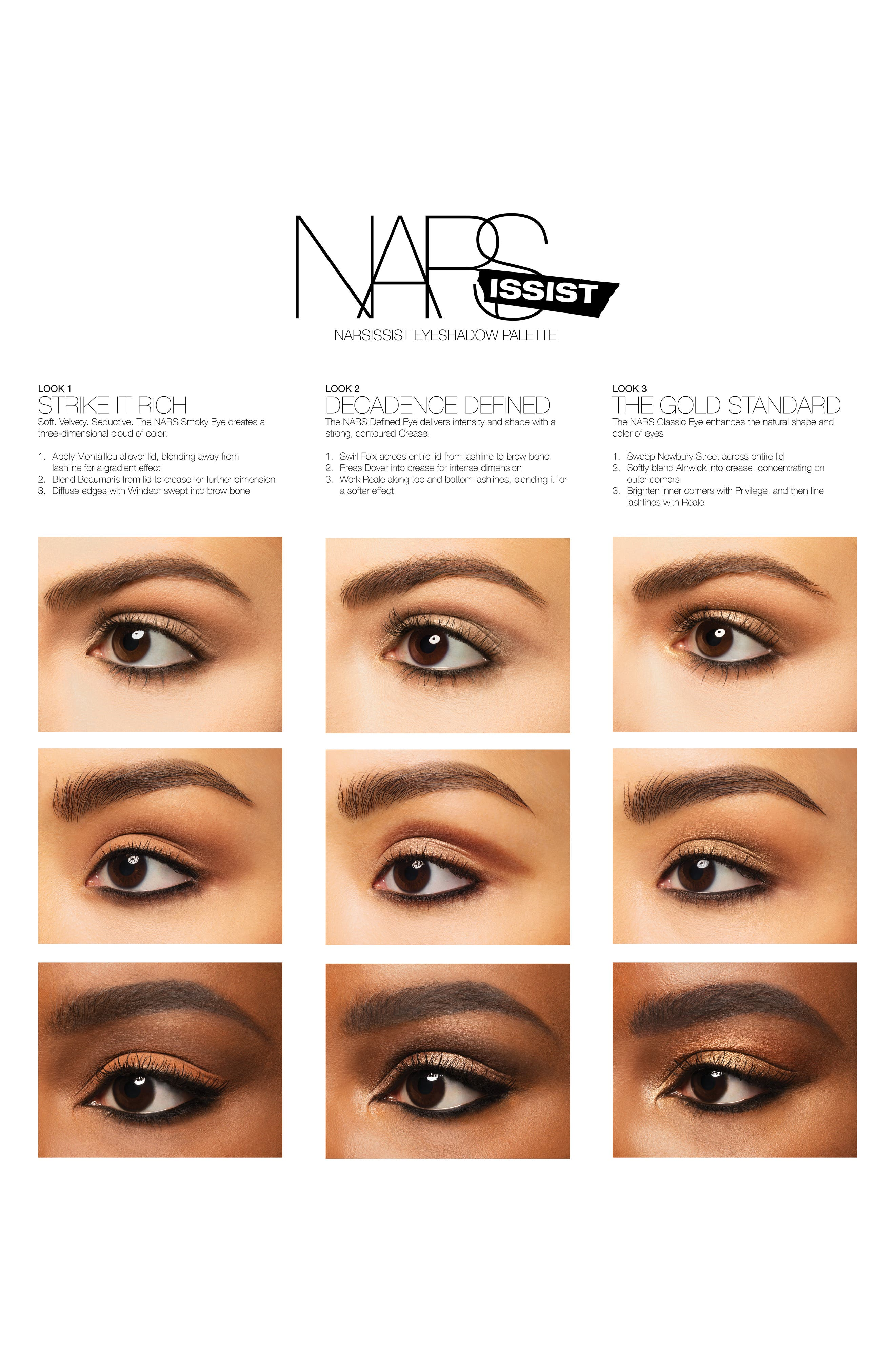 NARSissist Loaded Eyeshadow Palette,                             Alternate thumbnail 4, color,                             200