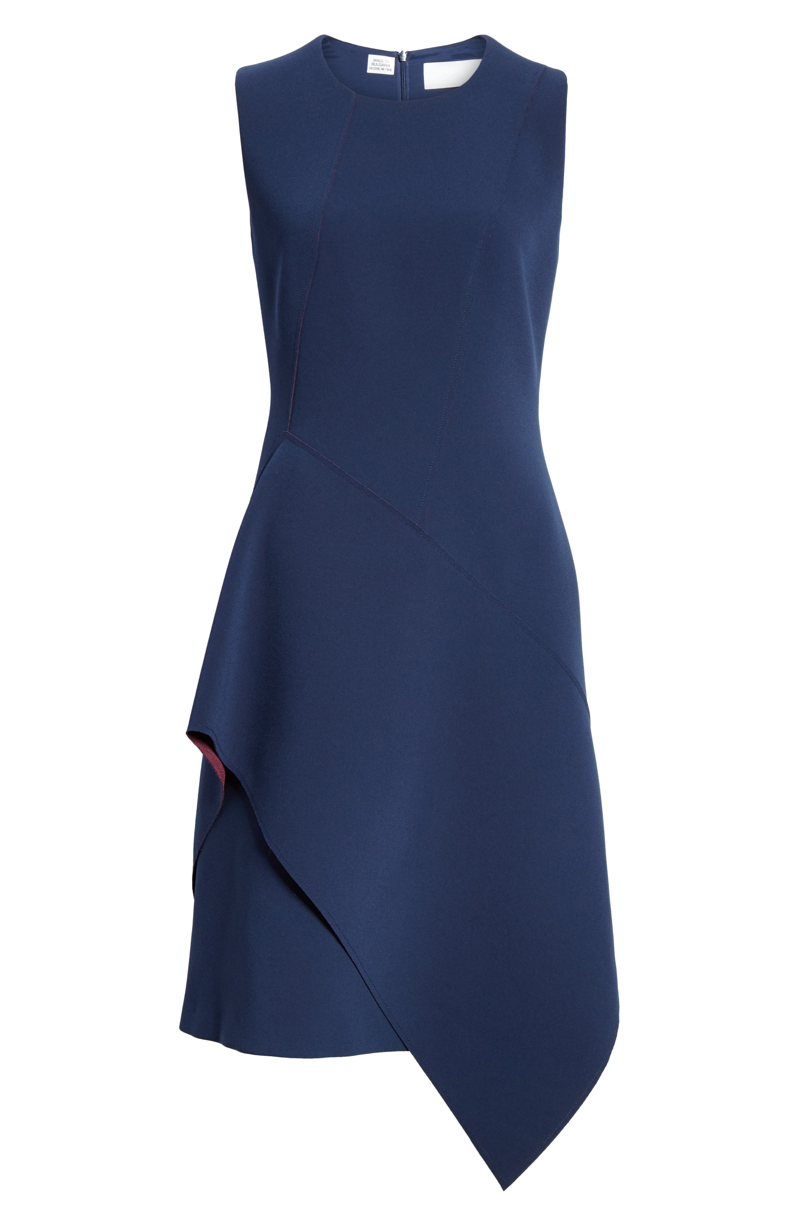 Delakety Asymmetrical A-Line Dress,                             Alternate thumbnail 7, color,                             DEEP BLUE FANTASY