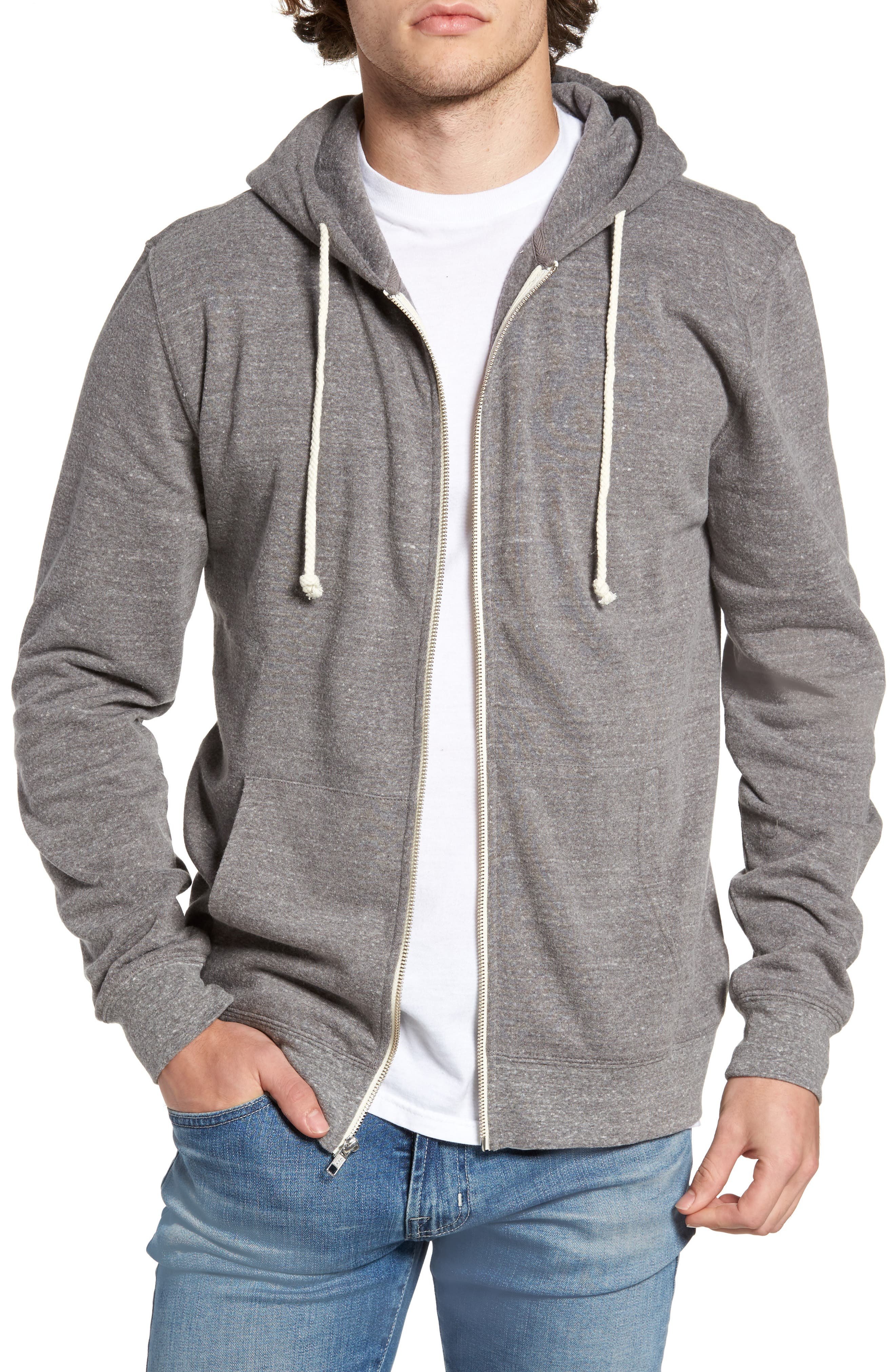 Threads for Thought Trim Fit Heathered Hoodie,                             Alternate thumbnail 35, color,