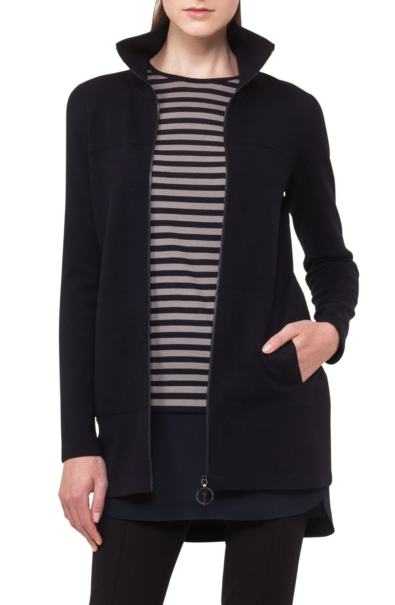 Stretch Wool Milano Knit Cardigan,                         Main,                         color,