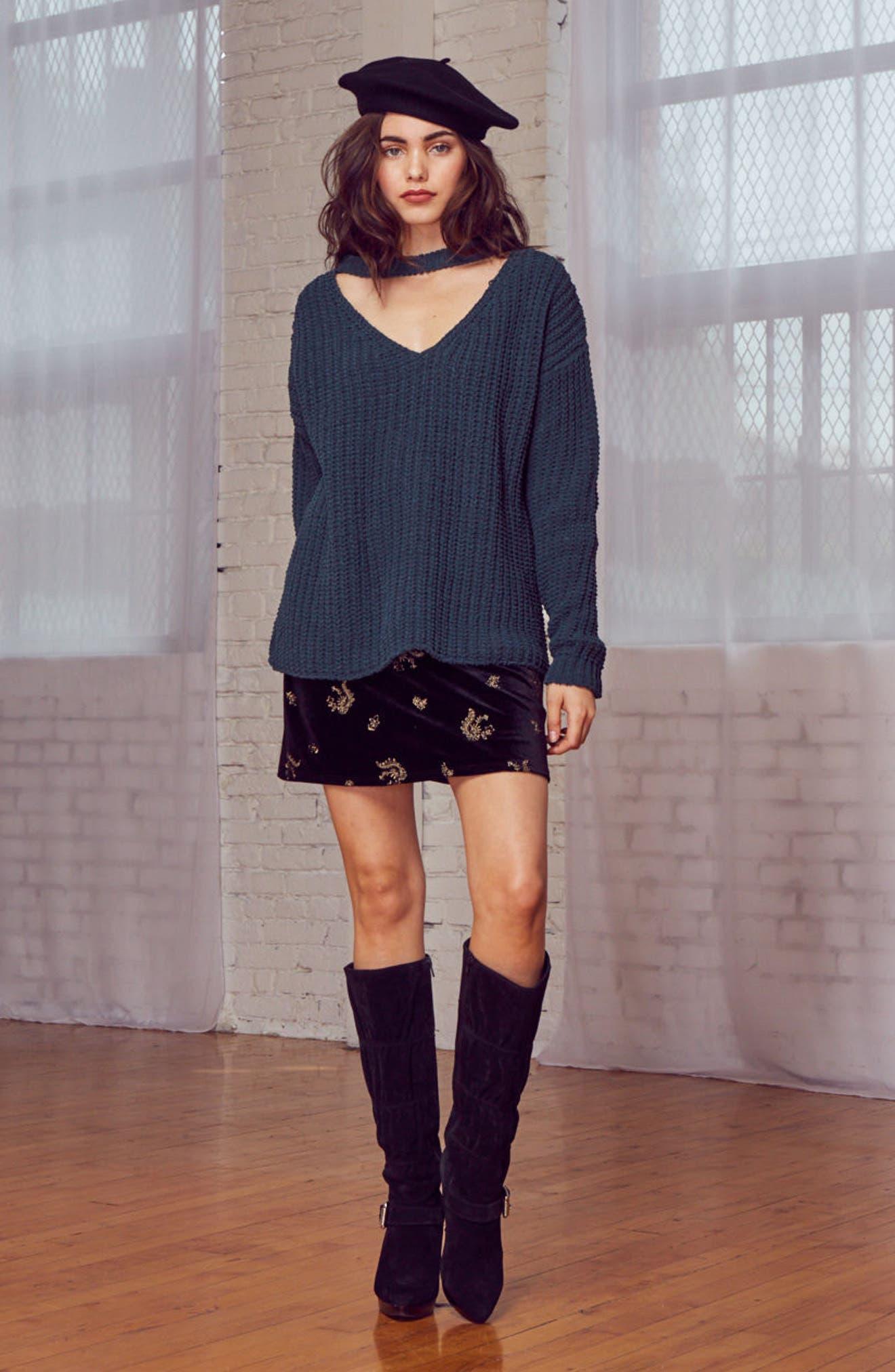 Mary Lous Choker Sweater,                             Alternate thumbnail 7, color,                             300