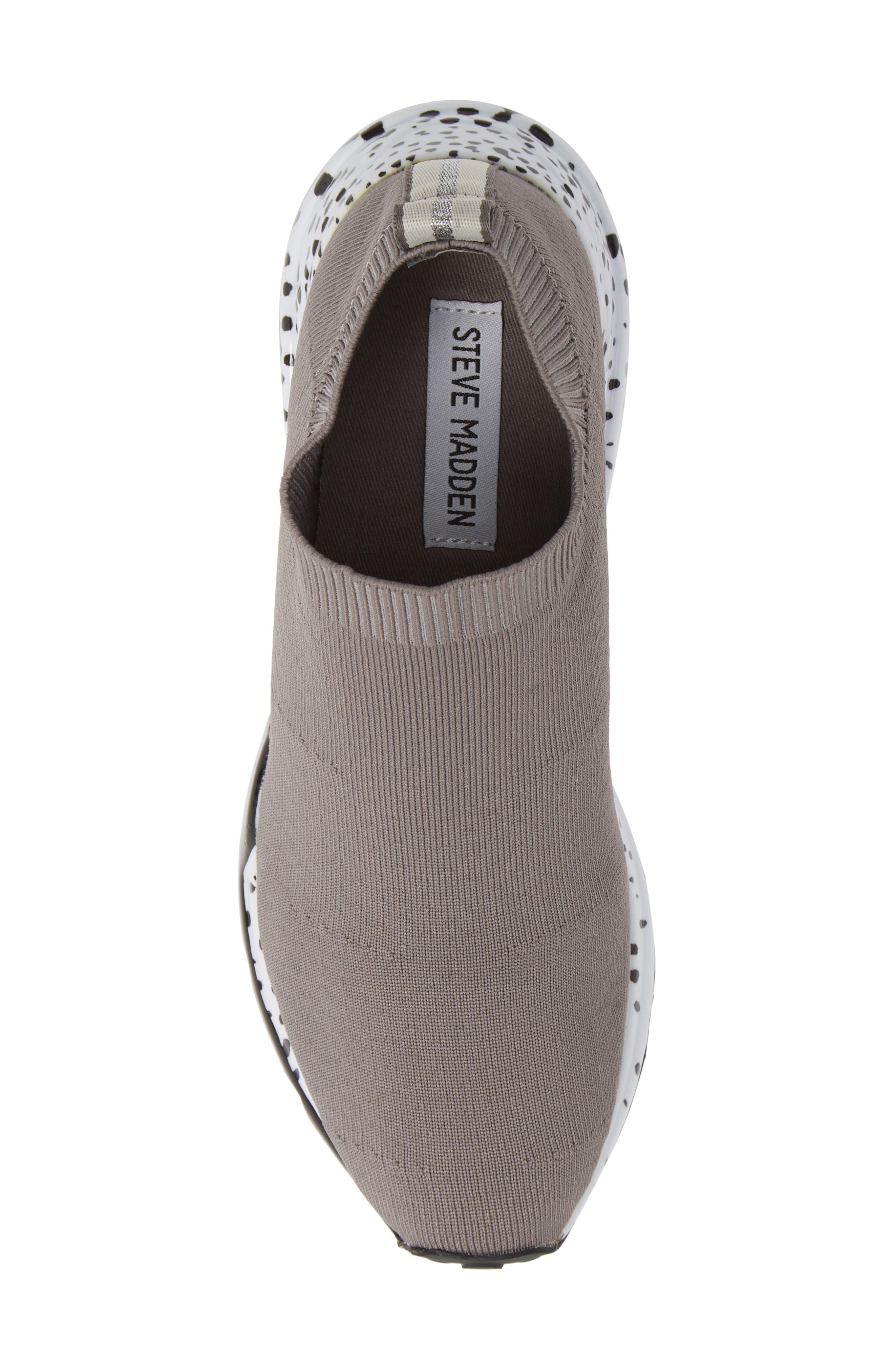 Cloud Sock Wedge Sneaker,                             Alternate thumbnail 5, color,                             GREY