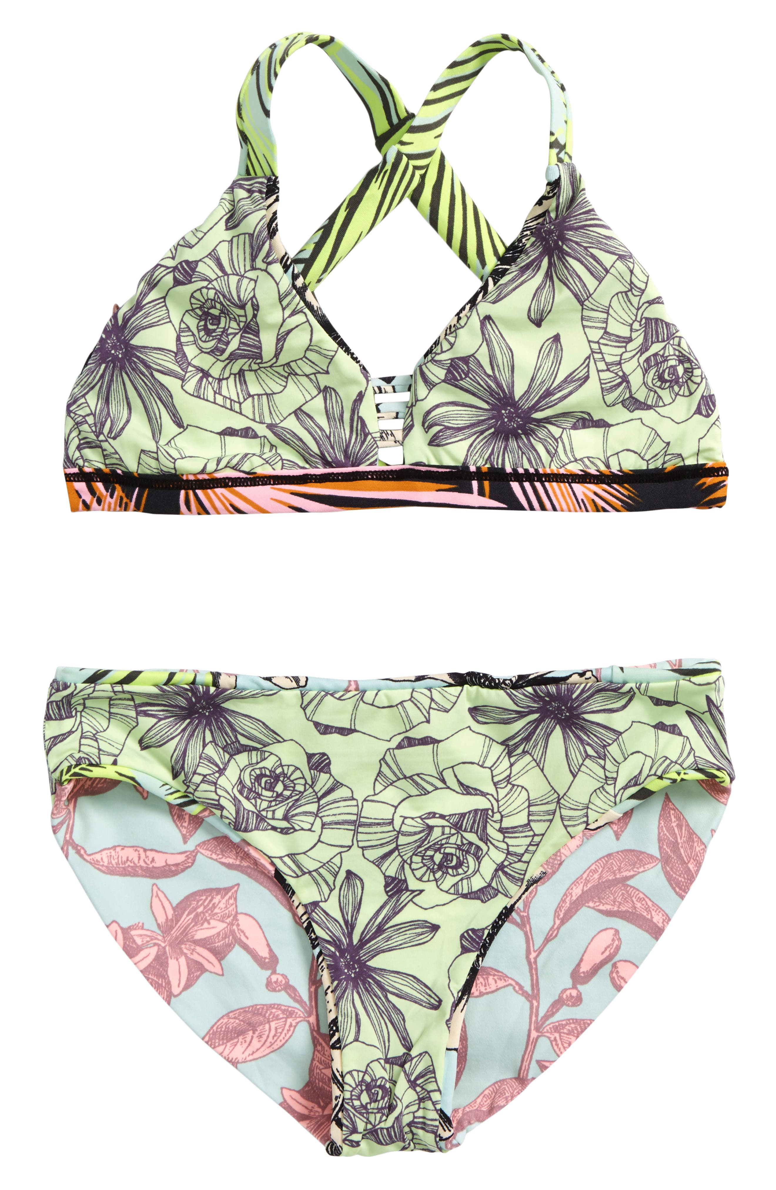 Rock Desert Reversible Two-Piece Swimsuit,                             Alternate thumbnail 2, color,                             400