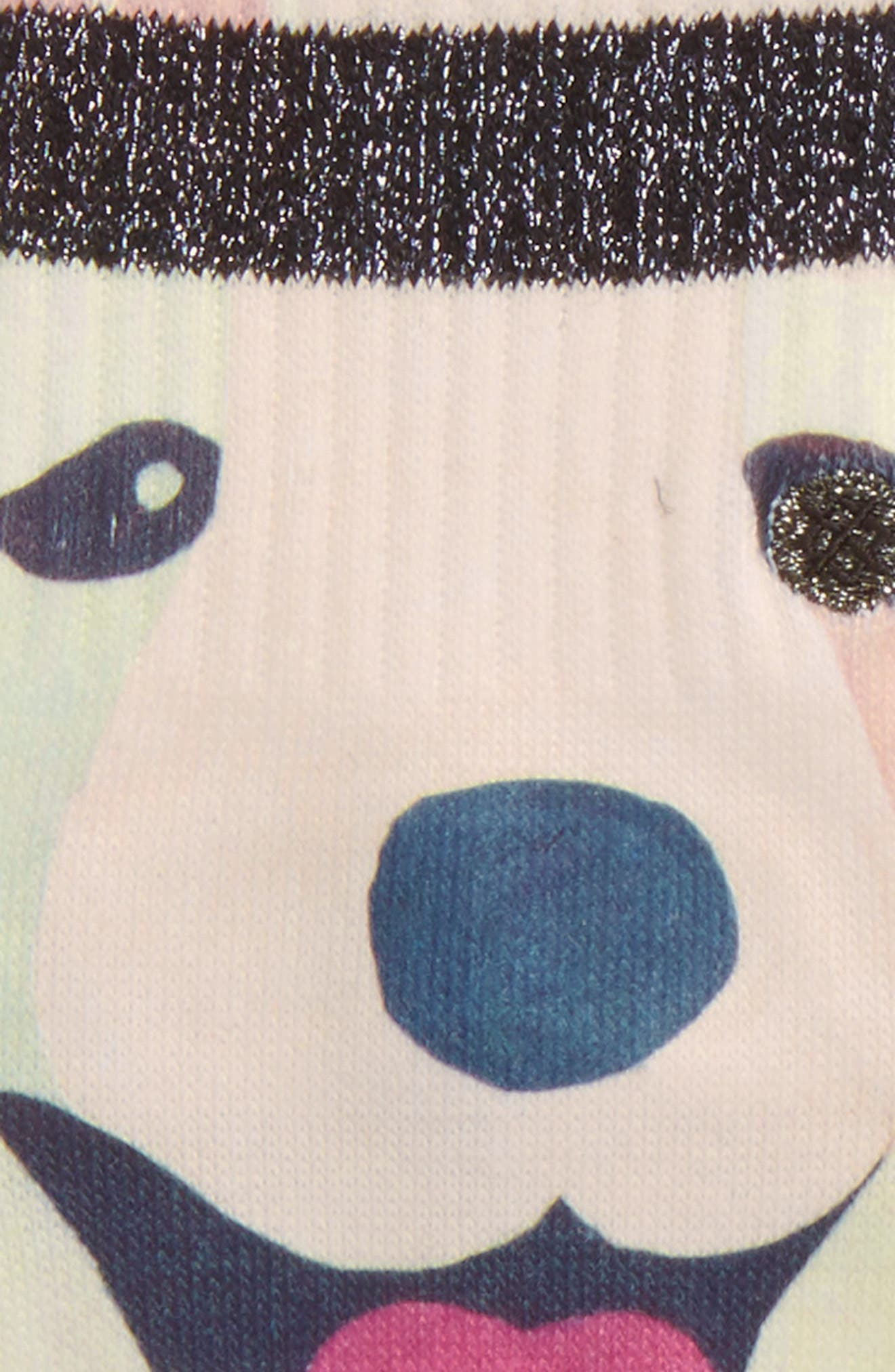 Puppies Crew Socks,                             Alternate thumbnail 2, color,                             001