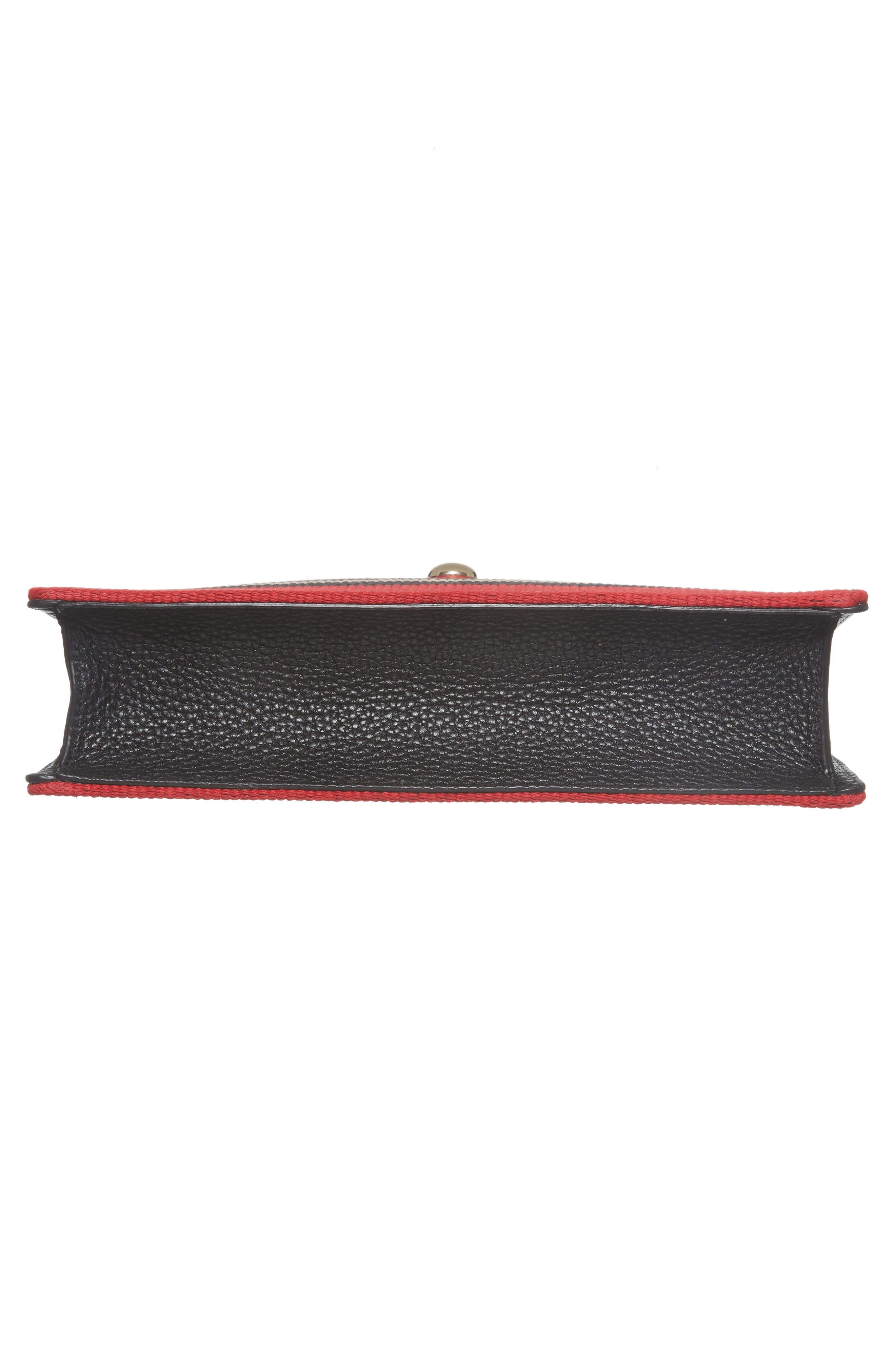 steward street clarise grosgrain stripe shoulder bag,                             Alternate thumbnail 6, color,                             600