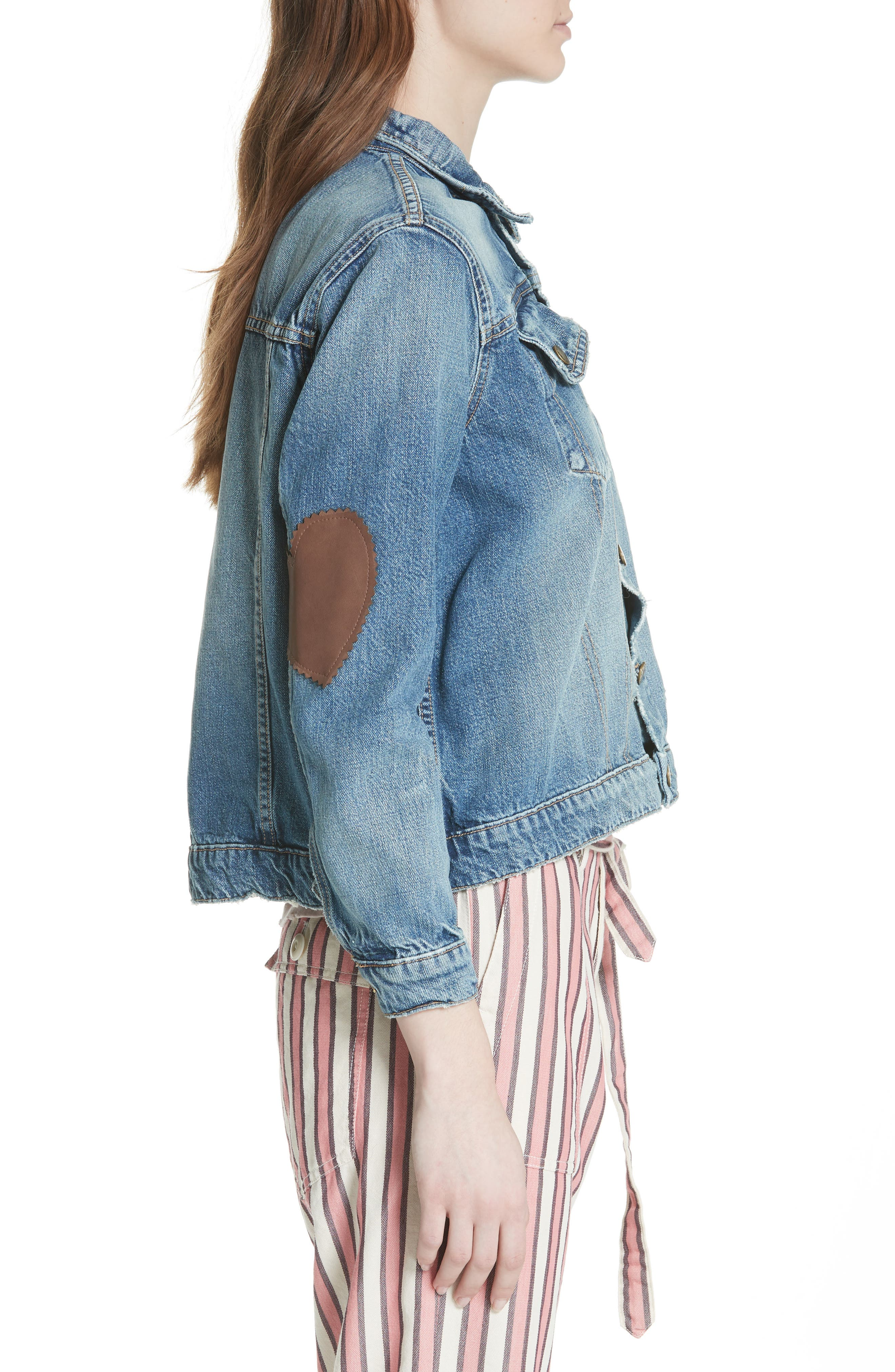 The Boxy Jean Jacket,                             Alternate thumbnail 3, color,                             435