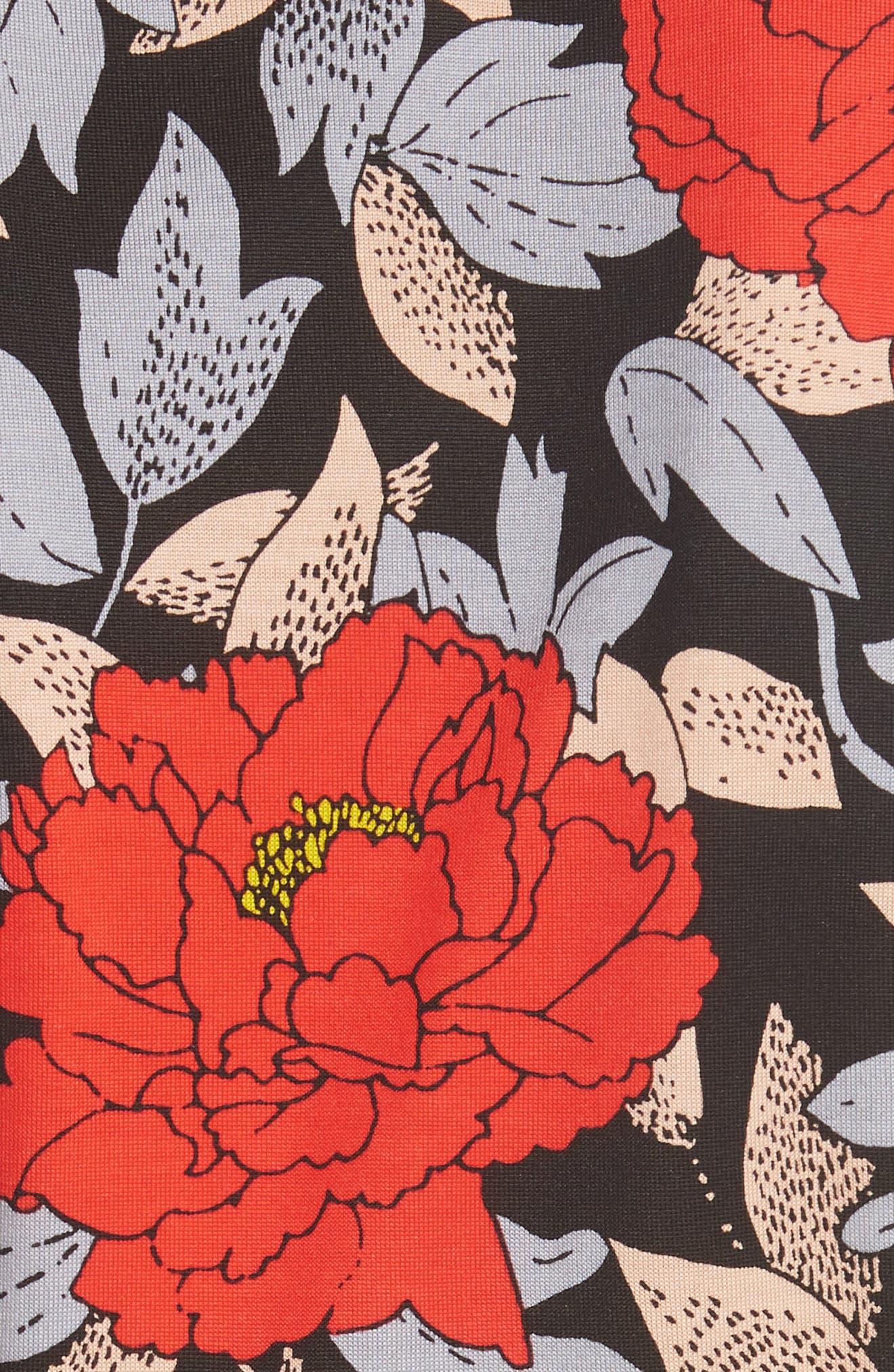 Diane von Furstenberg Flutter Sleeve Silk Wrap Dress,                             Alternate thumbnail 18, color,