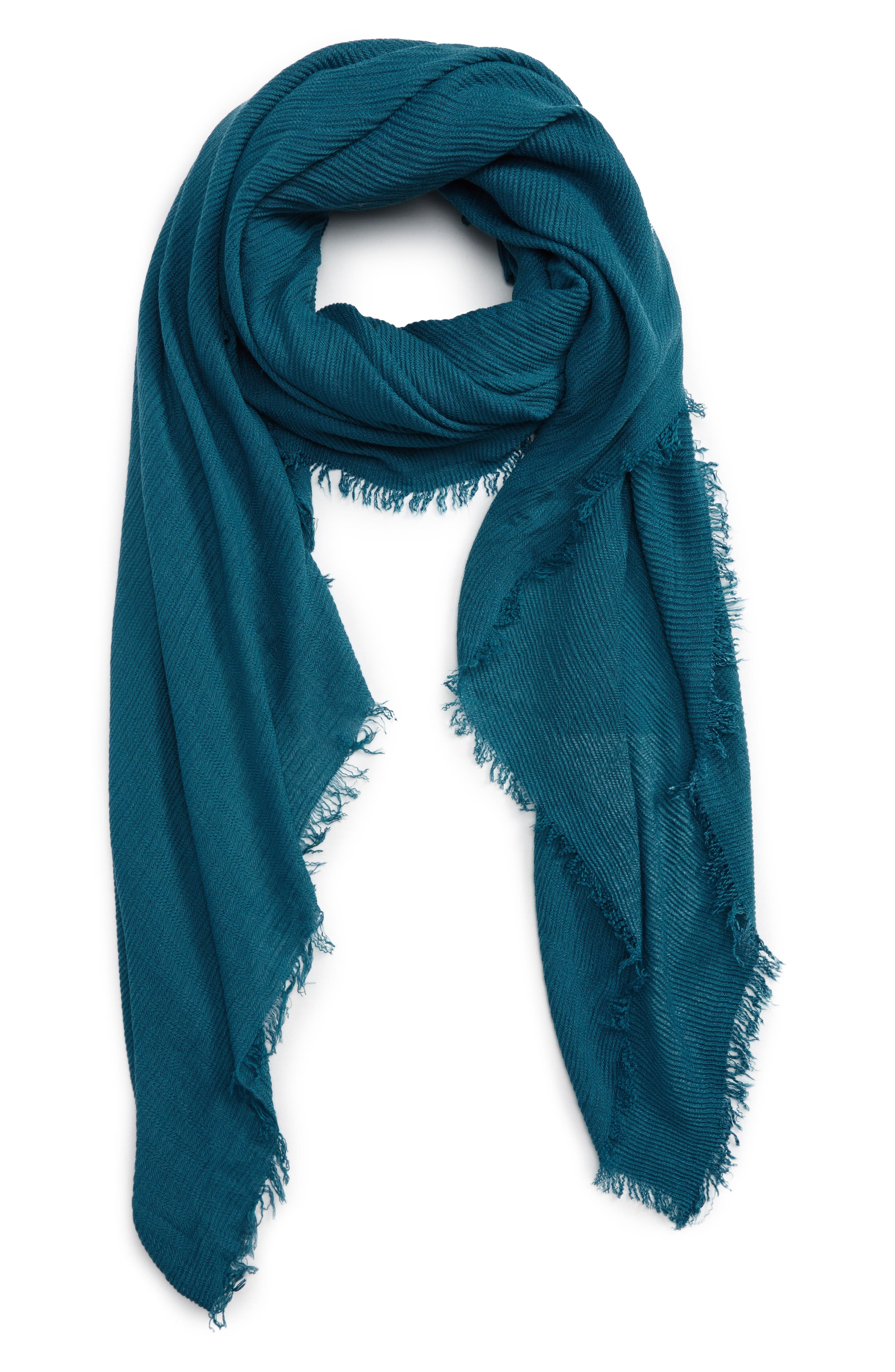 Pleated Fringe Scarf,                             Main thumbnail 4, color,