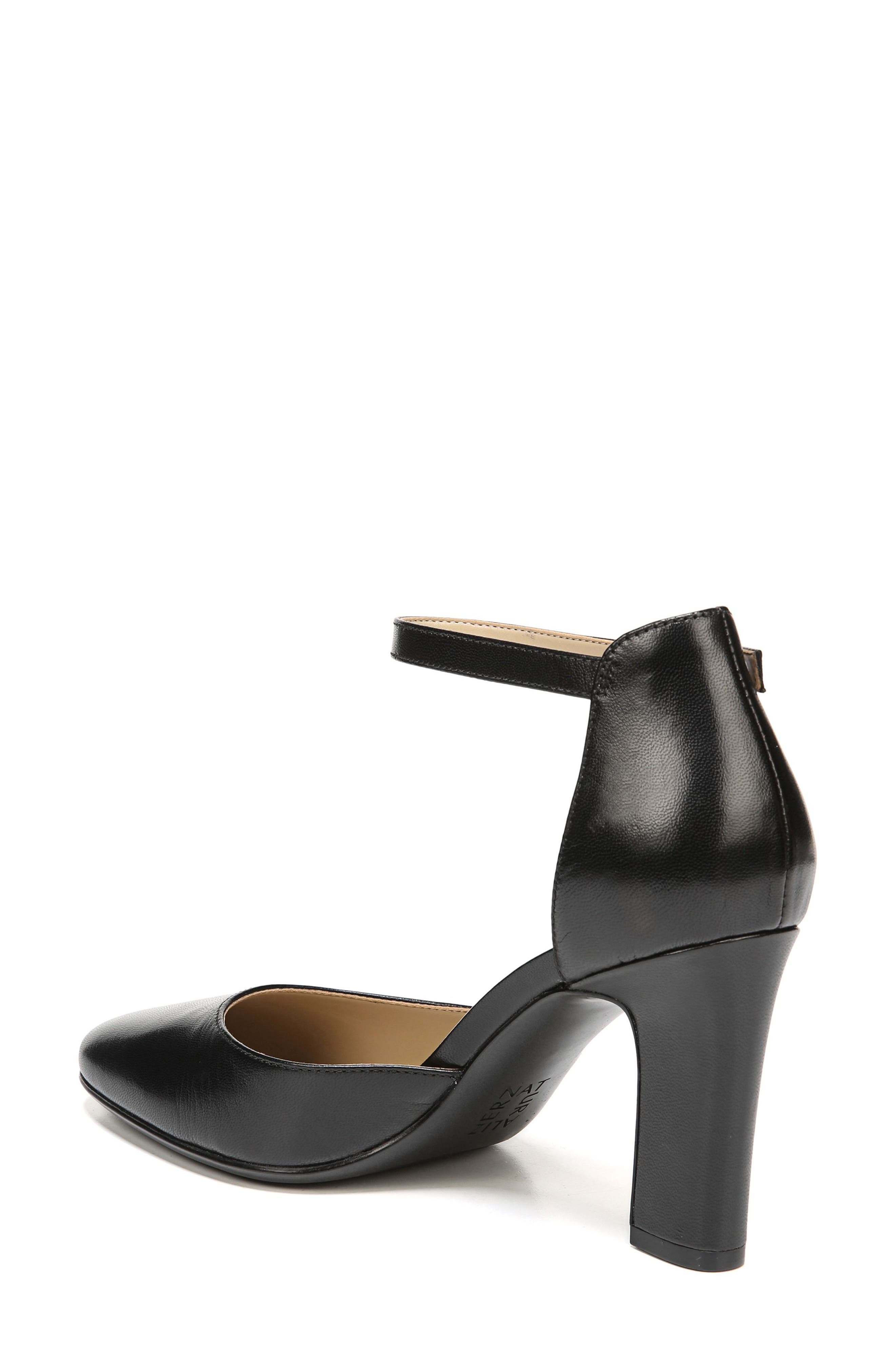 Gianna Ankle Strap Pump,                             Alternate thumbnail 2, color,                             BLACK LEATHER