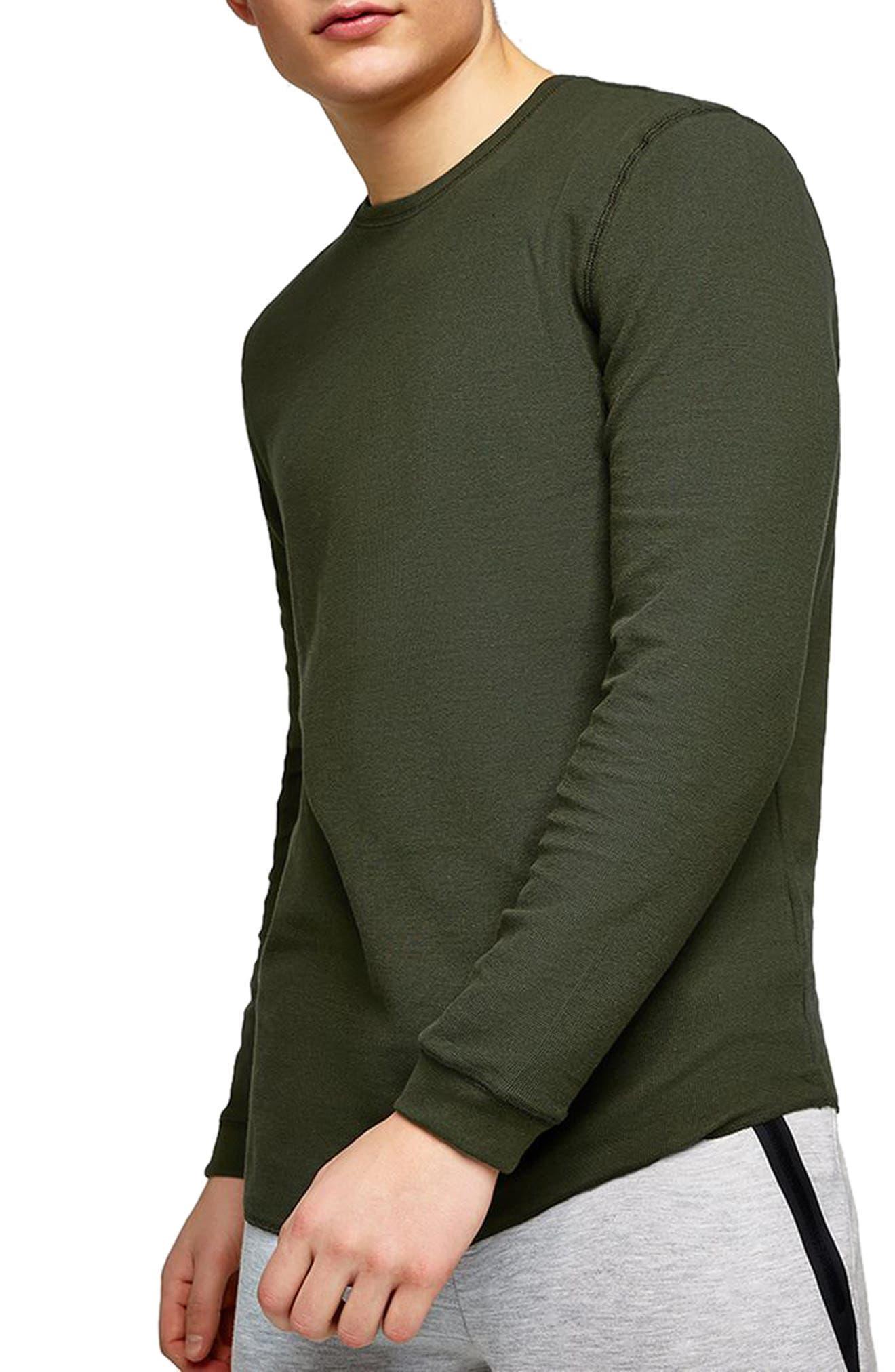 Waffle Knit Long Sleeve T-Shirt,                             Main thumbnail 2, color,
