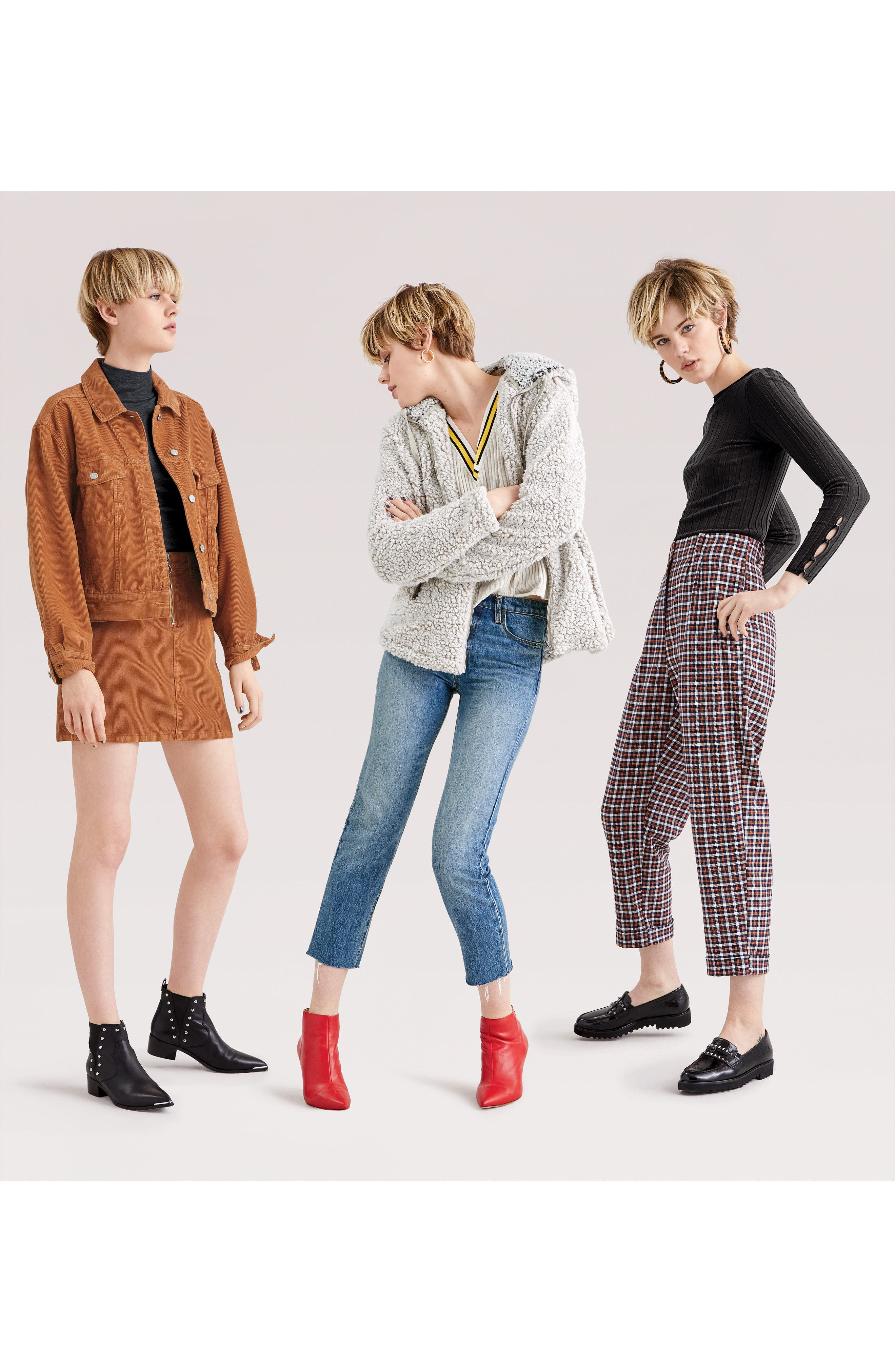 Cord Miniskirt,                             Alternate thumbnail 8, color,                             TOBACCO