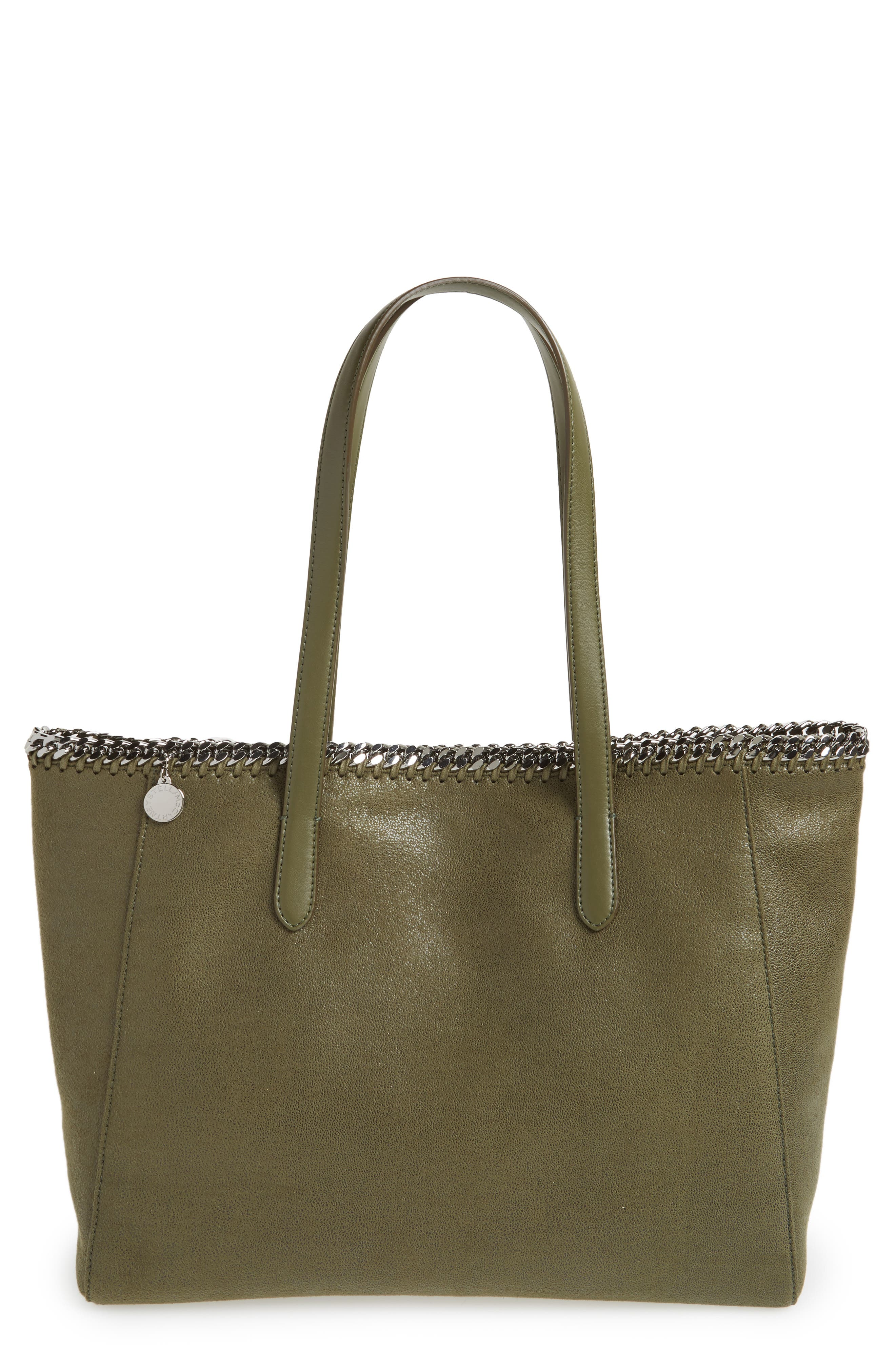 'Falabella - Shaggy Deer' Faux Leather Tote,                             Main thumbnail 4, color,