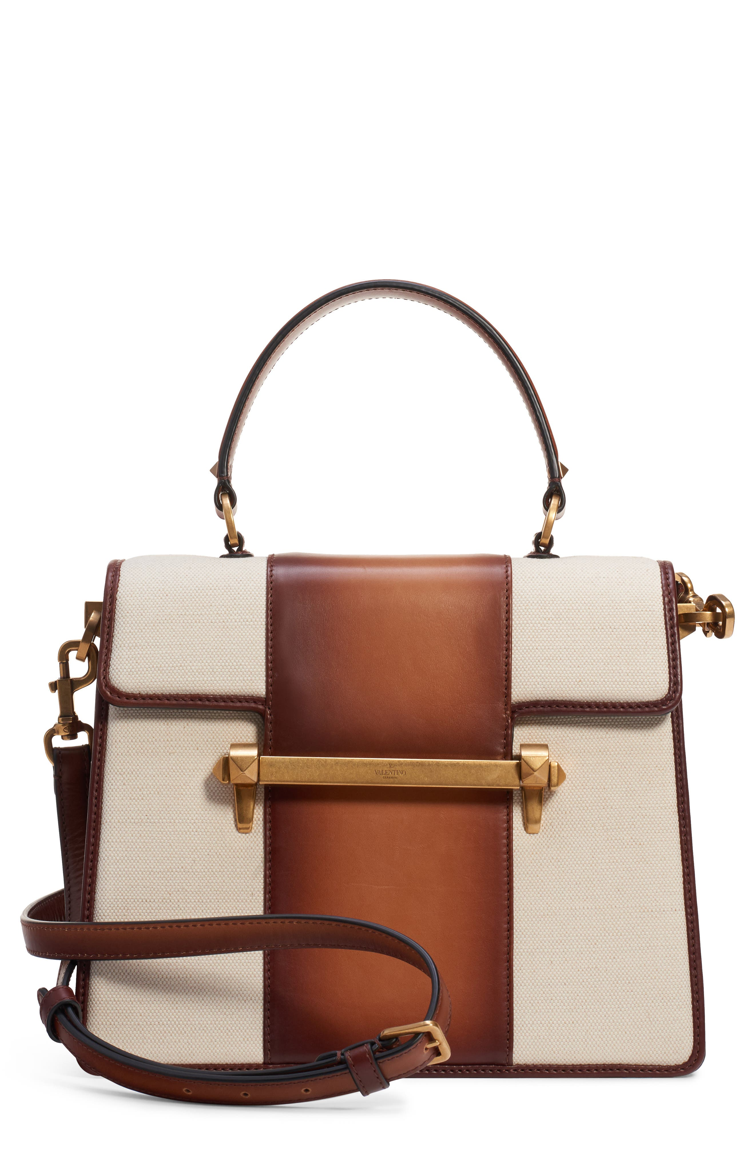 Uptown Single Handle Bag,                         Main,                         color, NATURALE/ BRIGHT COGNAC