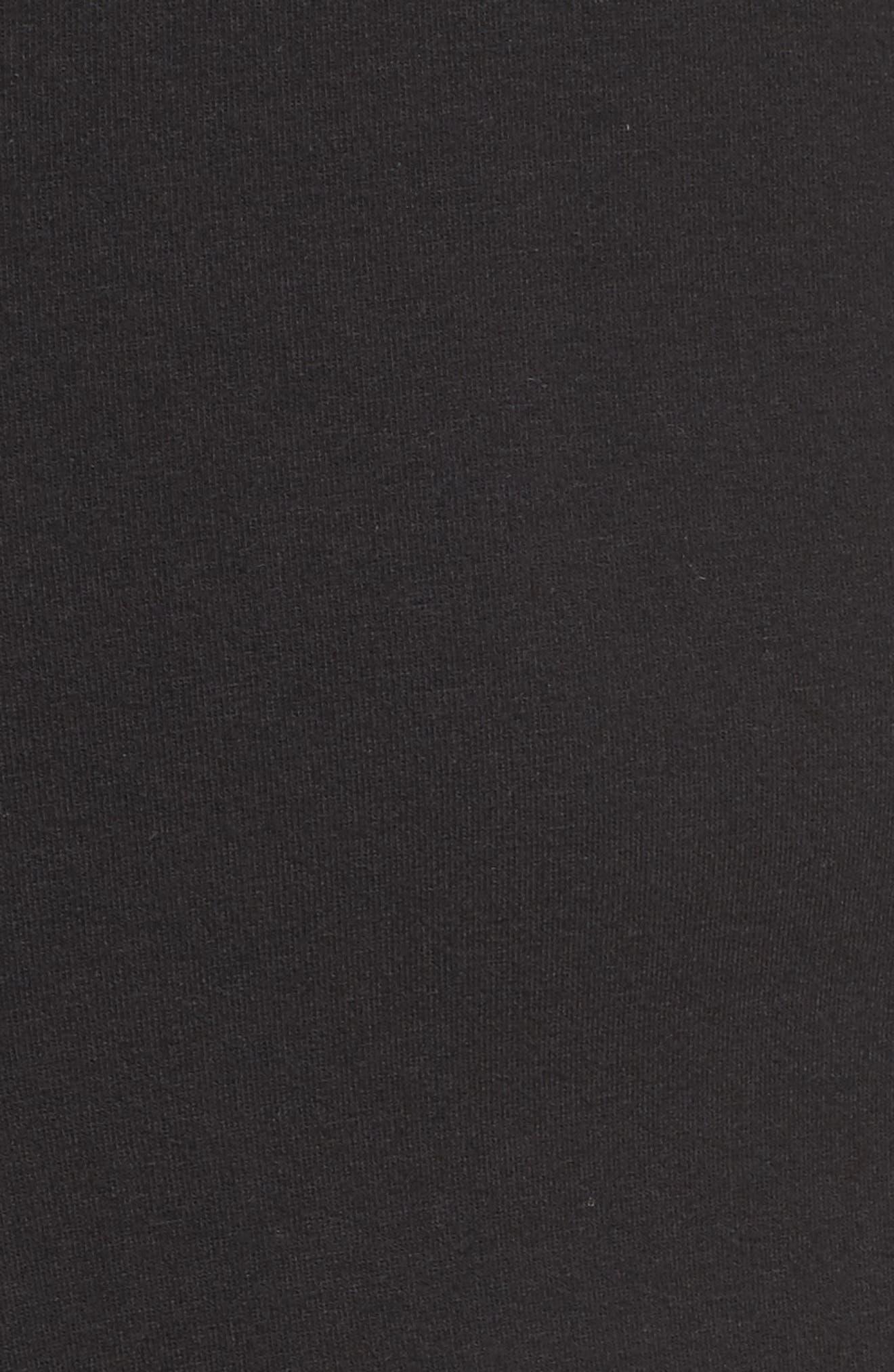 Corset Hoodie Sweatshirt Dress,                             Alternate thumbnail 5, color,                             001