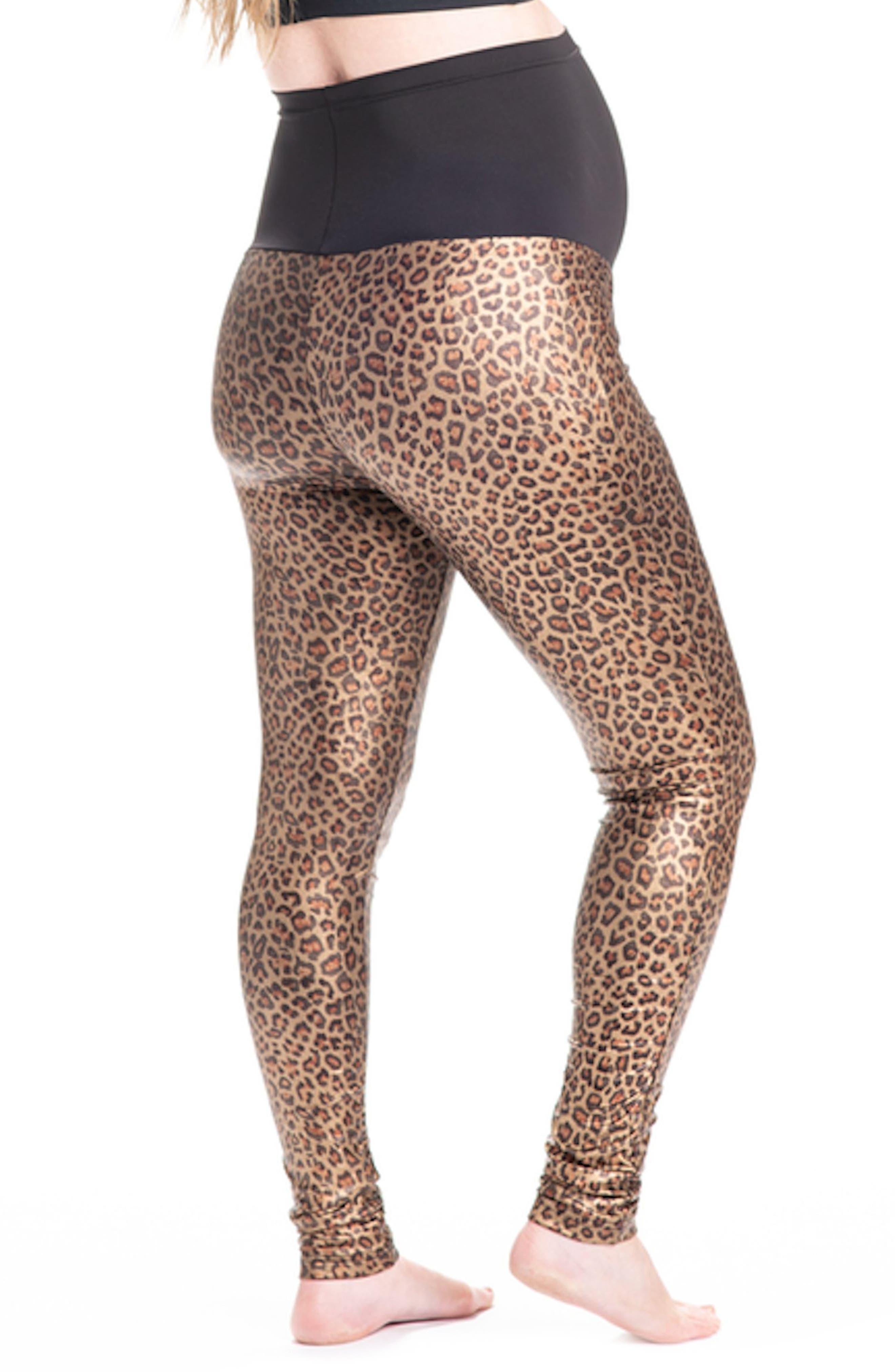 PREGGO LEGGINGS,                             Panthera Bae Maternity Leggings,                             Alternate thumbnail 2, color,                             GOLD