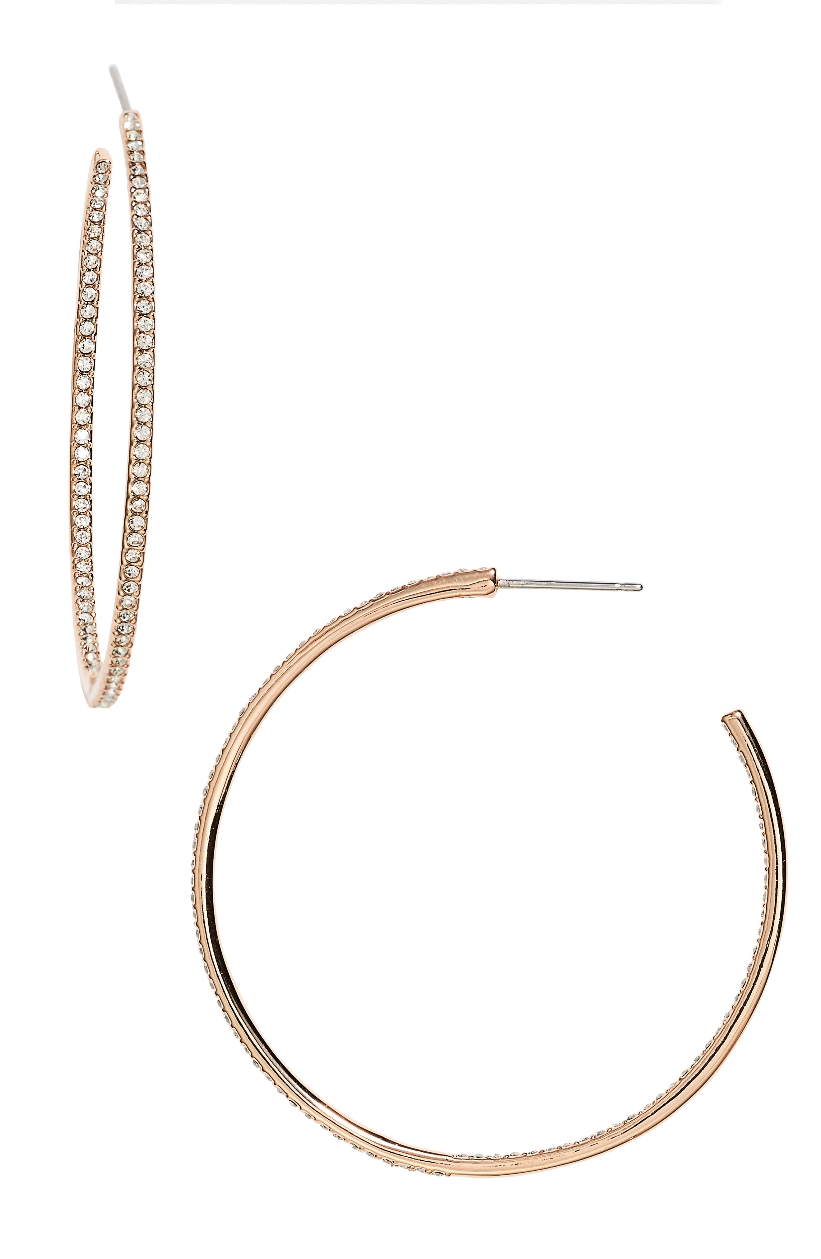 Medium Inside Out Hoop Earrings,                         Main,                         color, ROSE GOLD