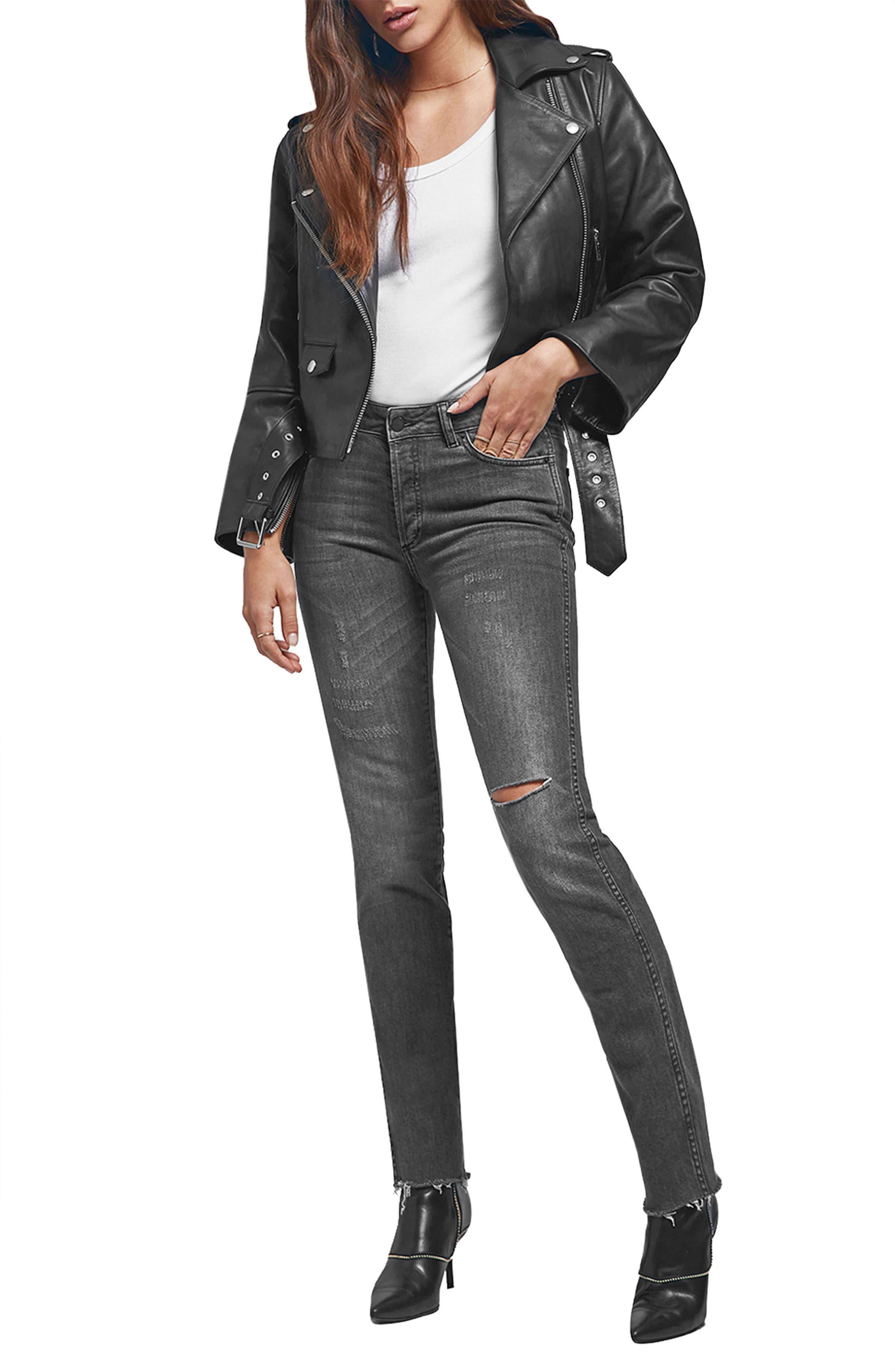 Kara Skinny Jeans,                             Alternate thumbnail 6, color,                             CHARCOAL