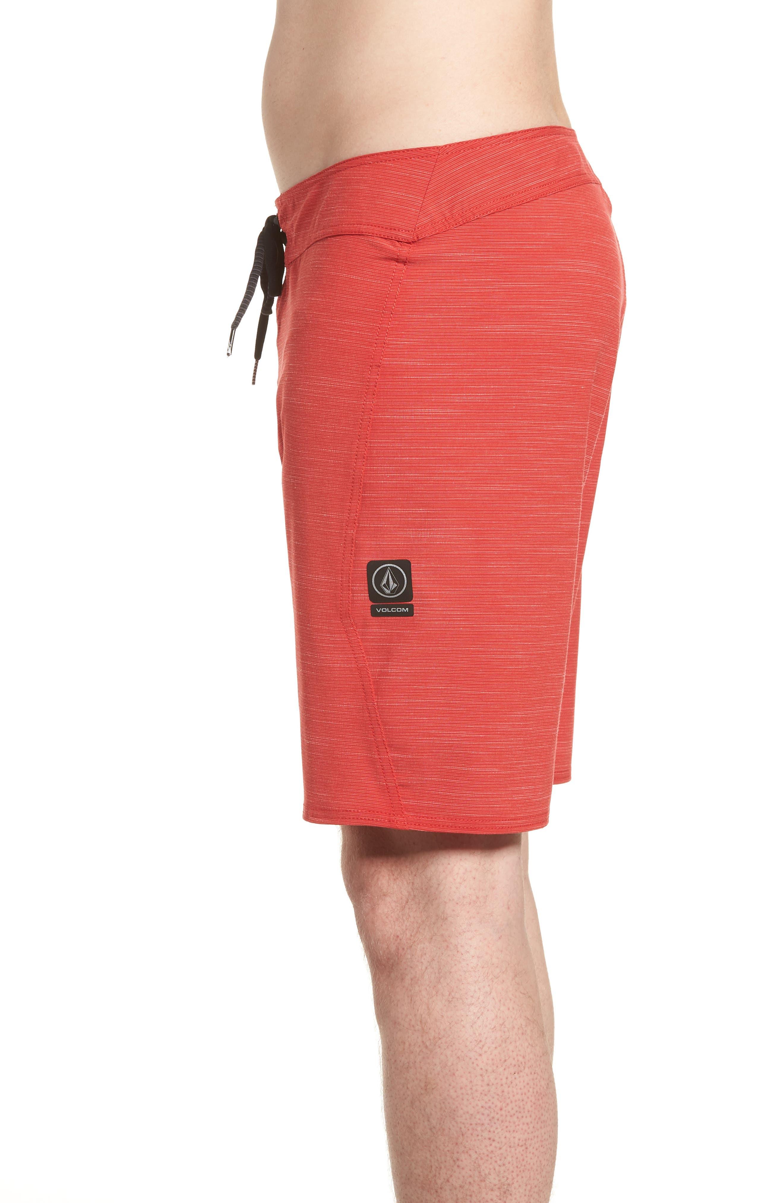Lido Slub Modern Board Shorts,                             Alternate thumbnail 4, color,                             RED