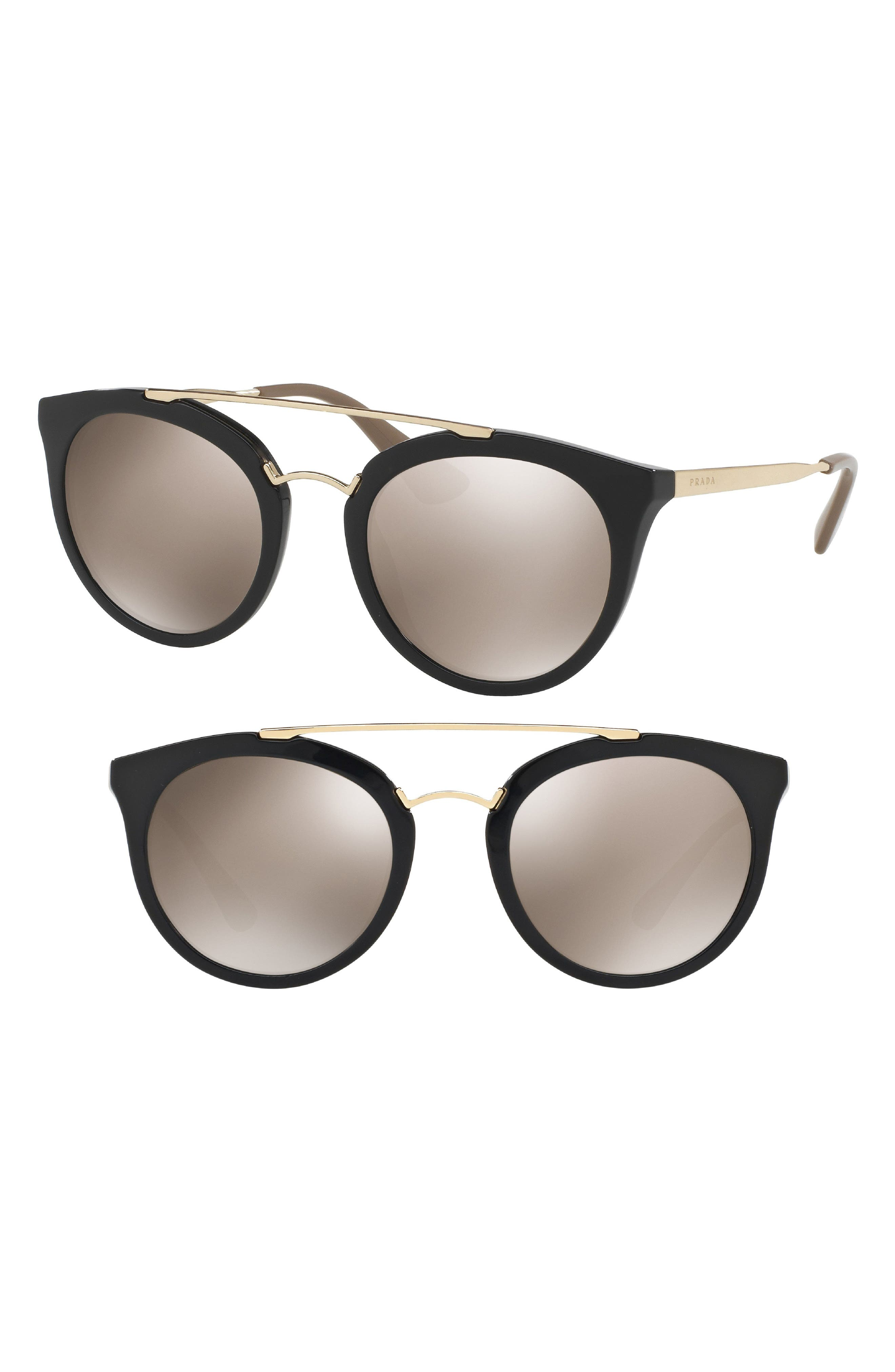 Double Bridge 52mm Sunglasses,                             Main thumbnail 1, color,                             008