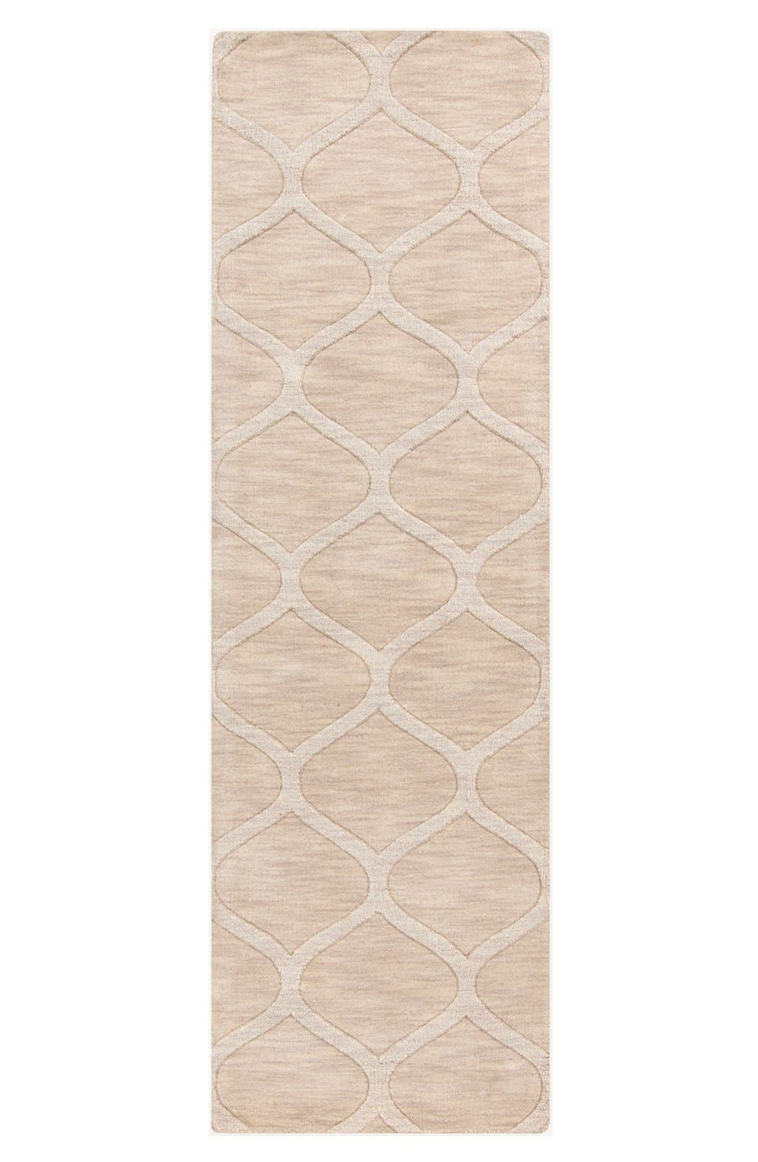 'Mystique' Hand Loomed Wool Rug,                             Alternate thumbnail 4, color,                             IVORY