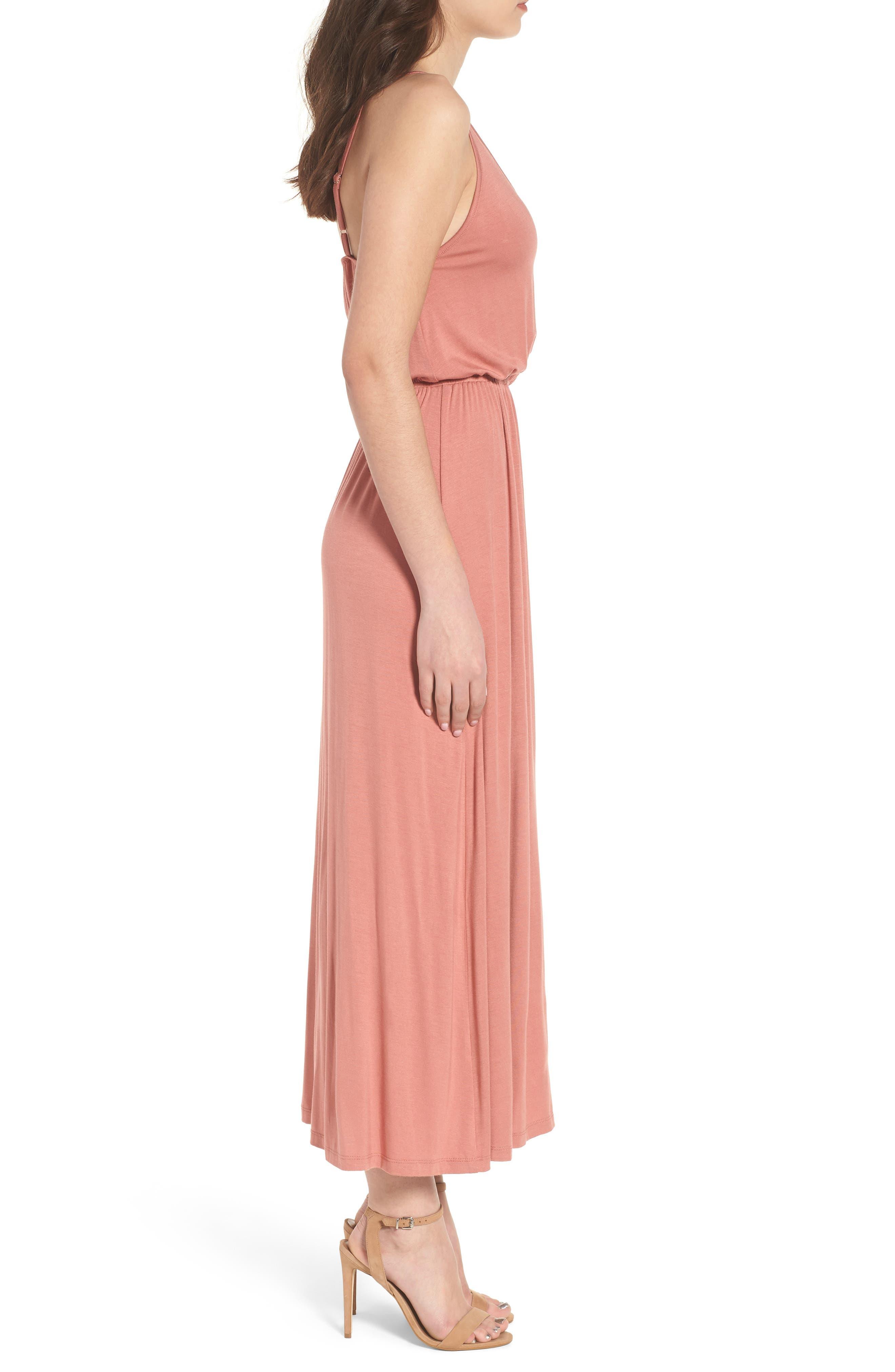 V-Neck Maxi Dress,                             Alternate thumbnail 8, color,