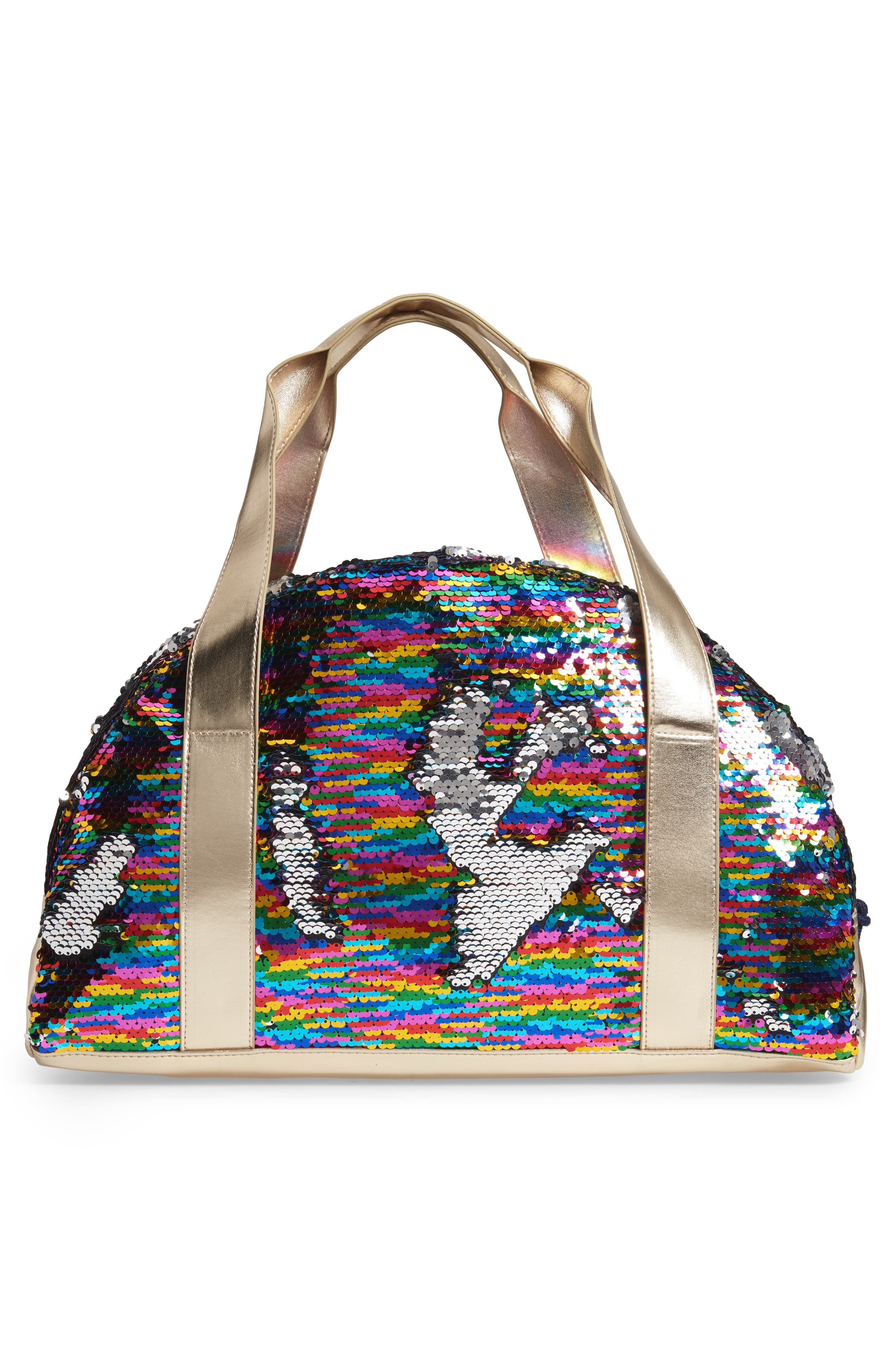 Overnight Bag with Reversible Sequins,                             Alternate thumbnail 2, color,                             964