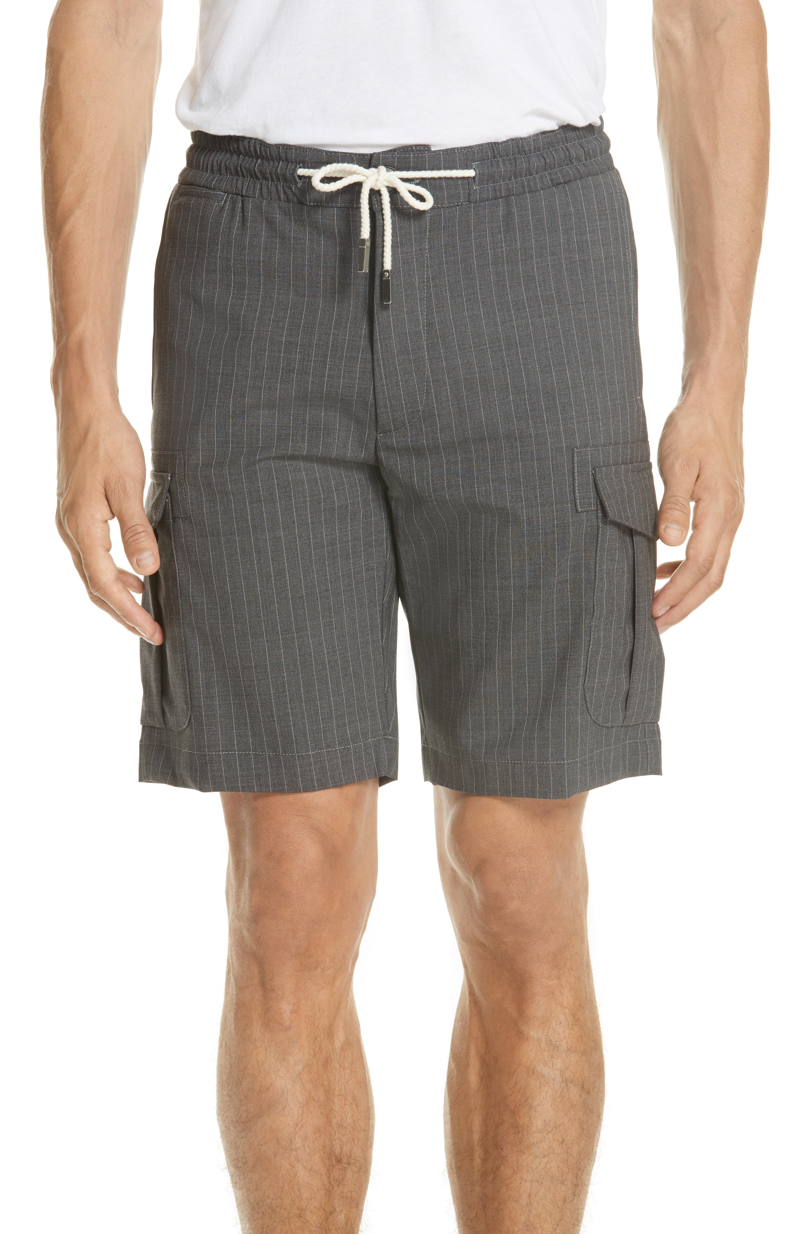 Stretch Wool Cargo Shorts,                             Main thumbnail 1, color,                             020