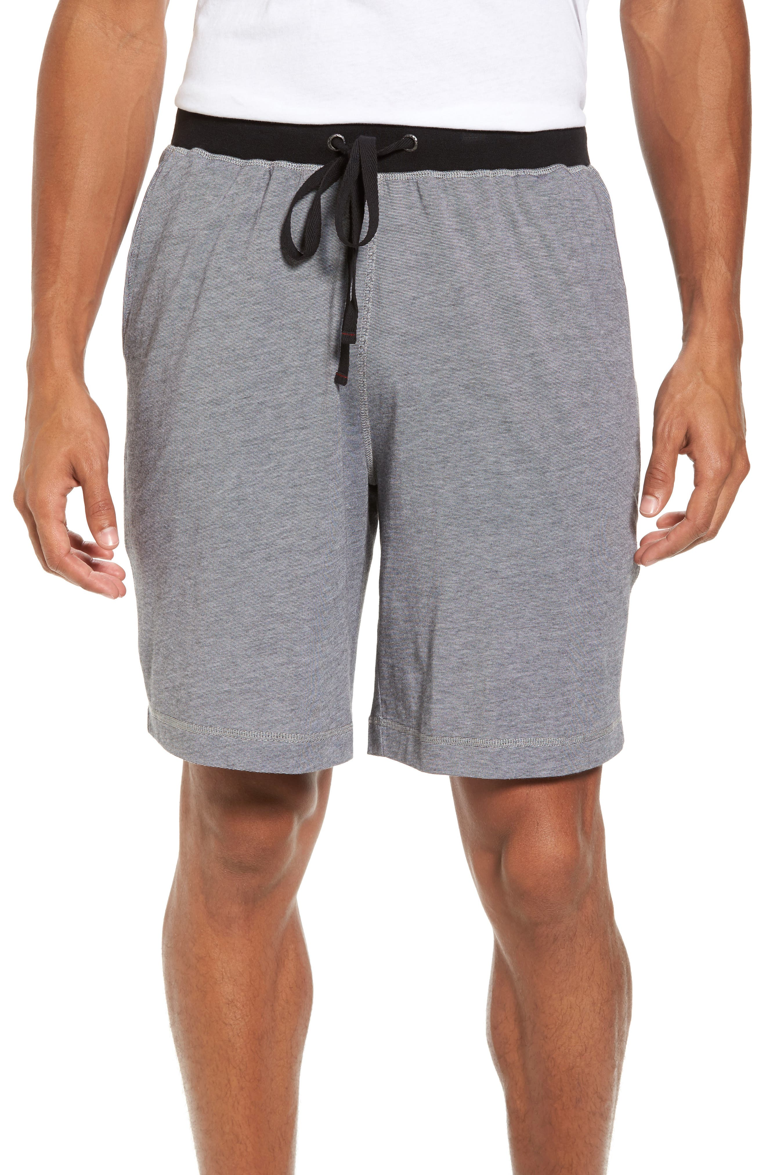 Pima Cotton & Modal Lounge Shorts,                         Main,                         color, 001
