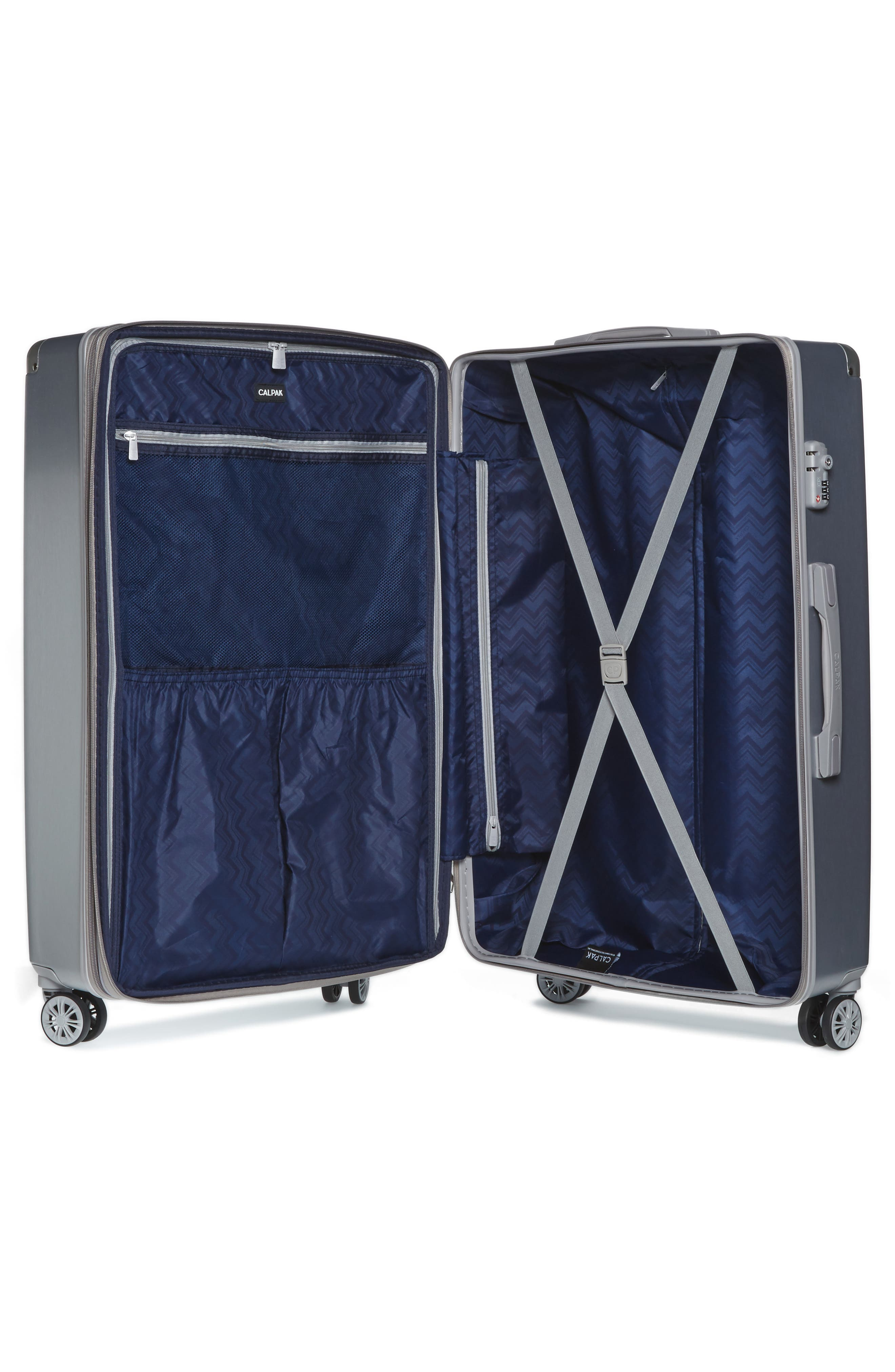 Ambeur 2-Piece Spinner Luggage Set,                             Alternate thumbnail 2, color,                             WHITE