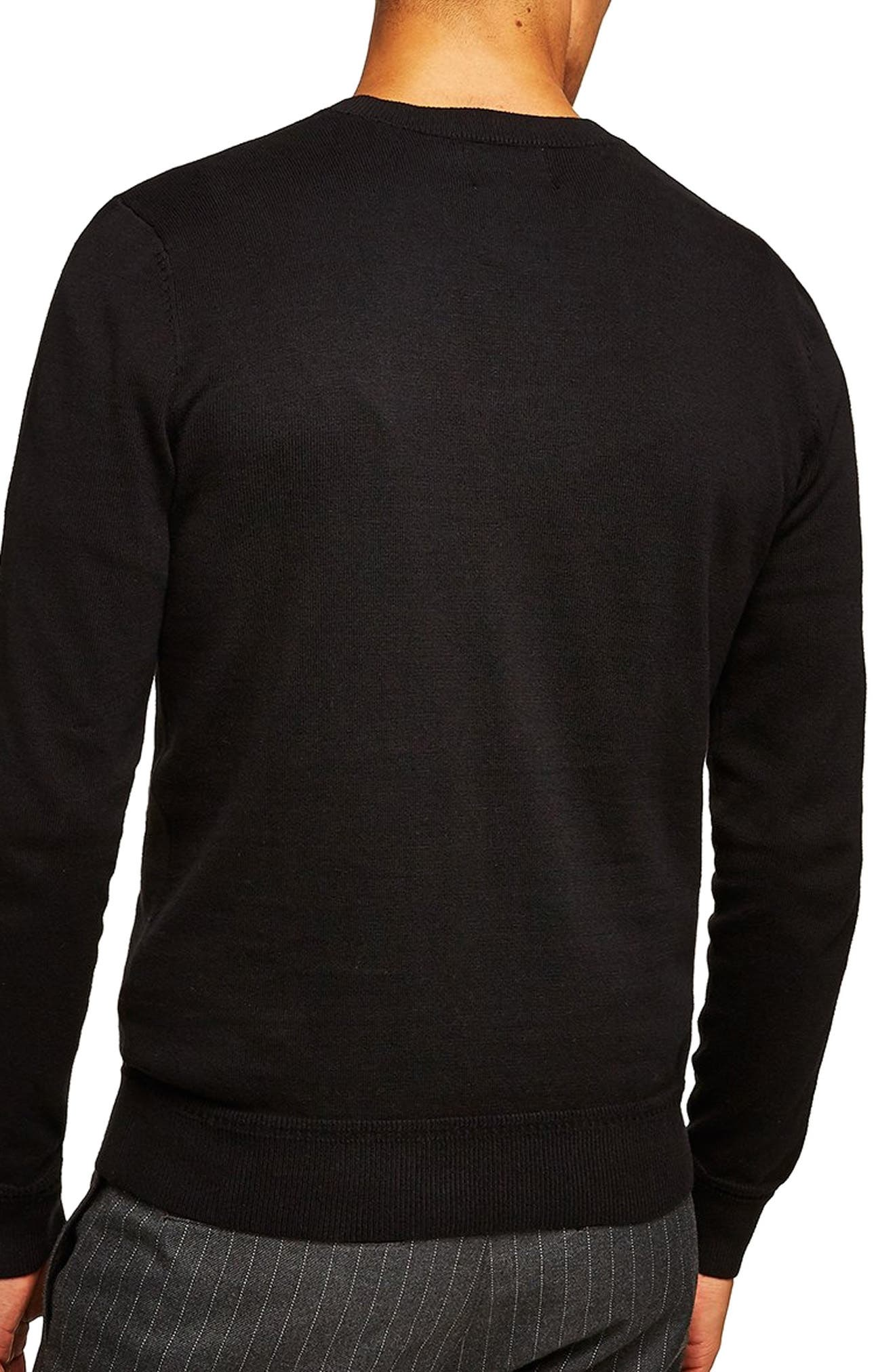 Classic V-Neck Sweater,                             Alternate thumbnail 2, color,                             BLACK